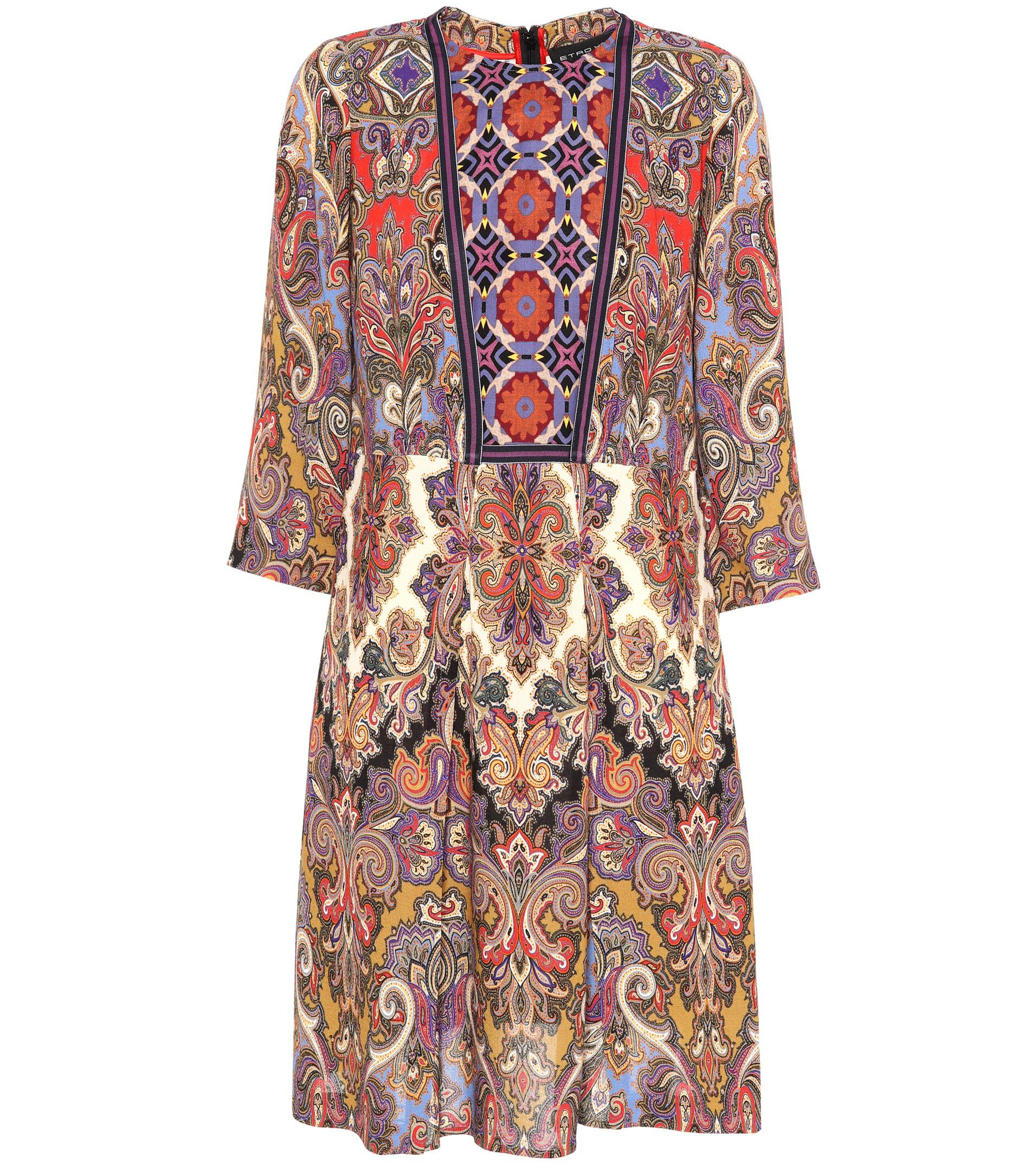 Paisley and floral-printed dress Etro pJZRBol5