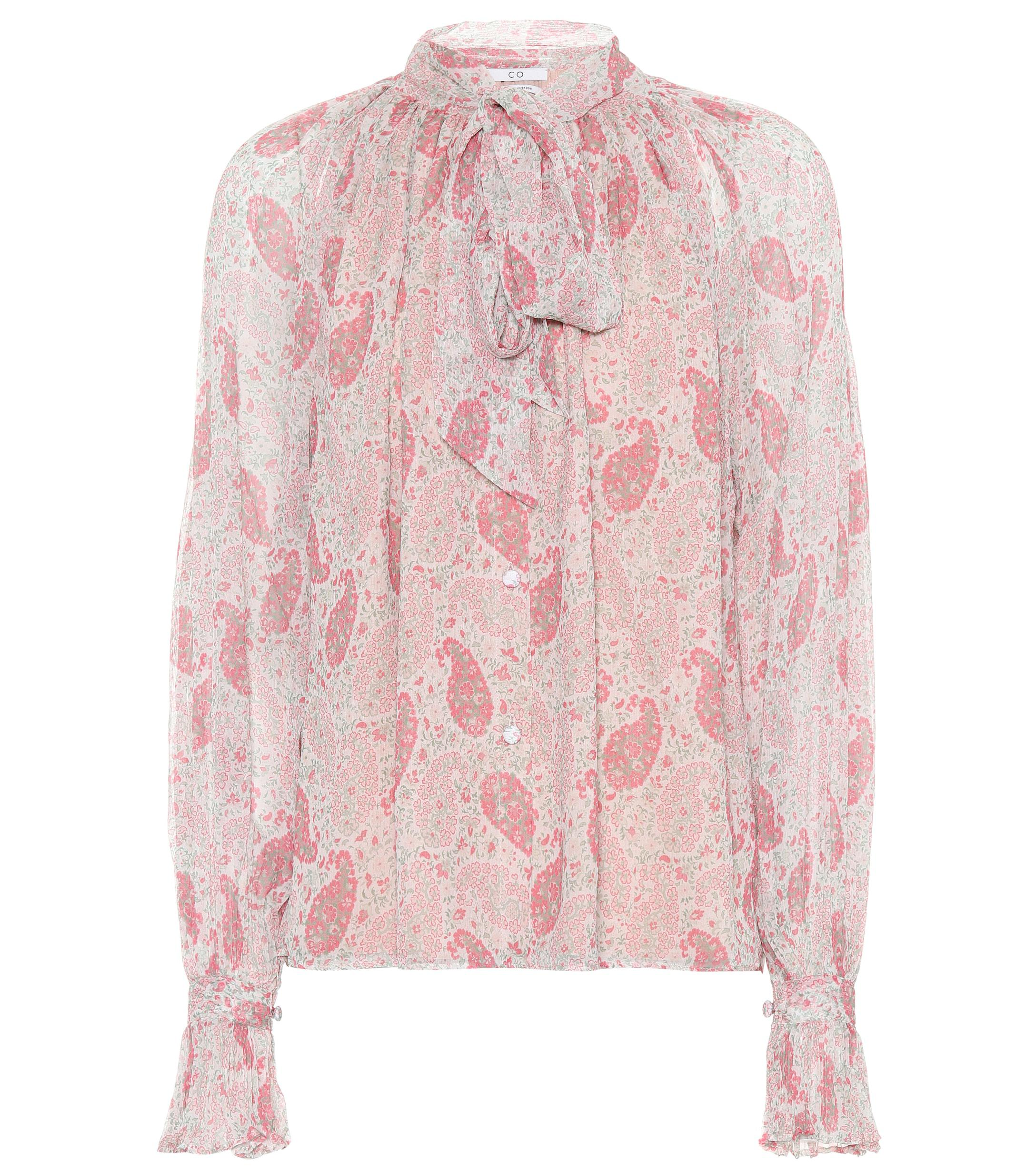 c5e9bc8494 Co. Printed Silk Top in Pink - Lyst