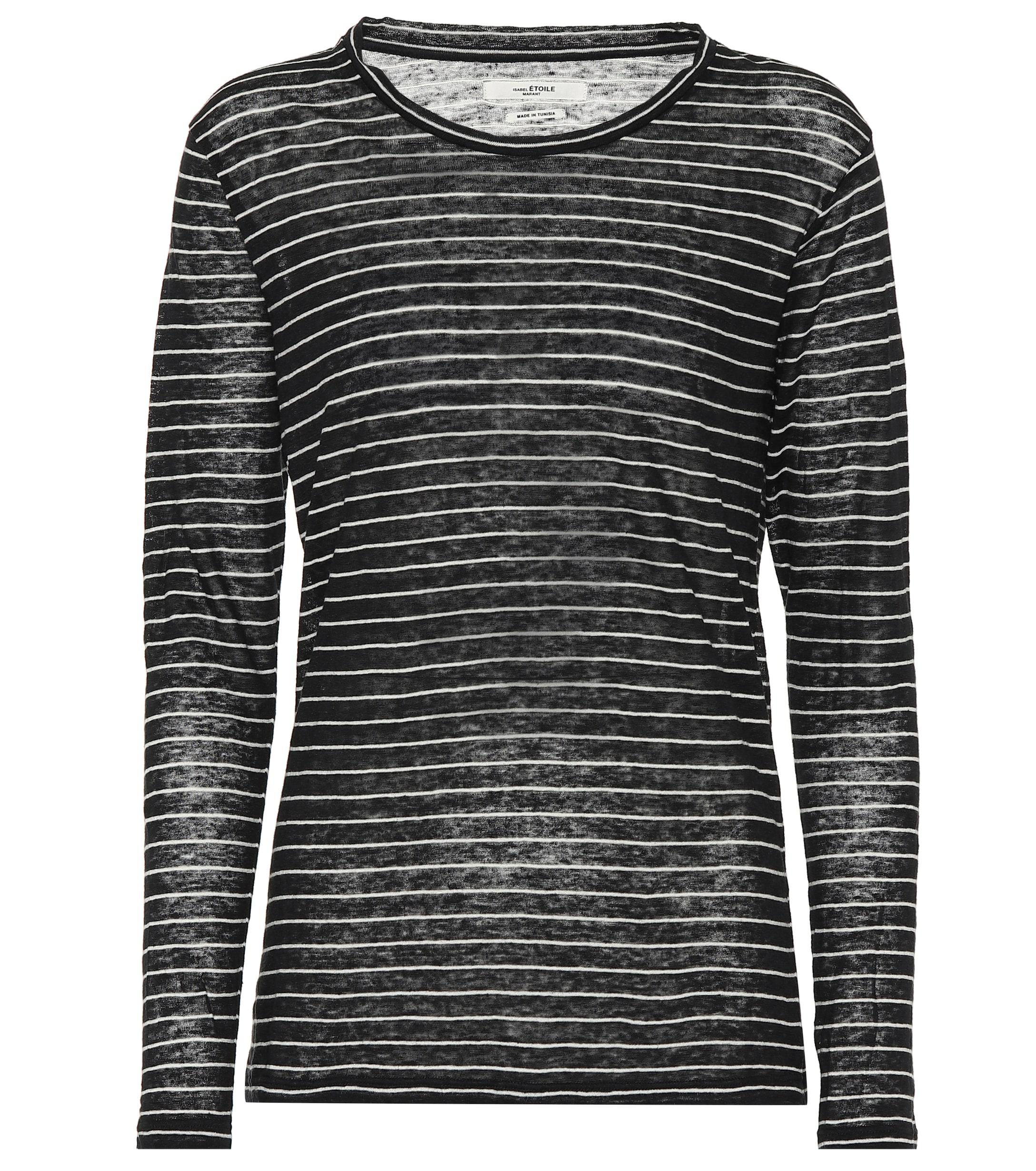 165356ad2d4cc Lyst - Étoile Isabel Marant Kaaron Striped Linen And Cotton Top in ...