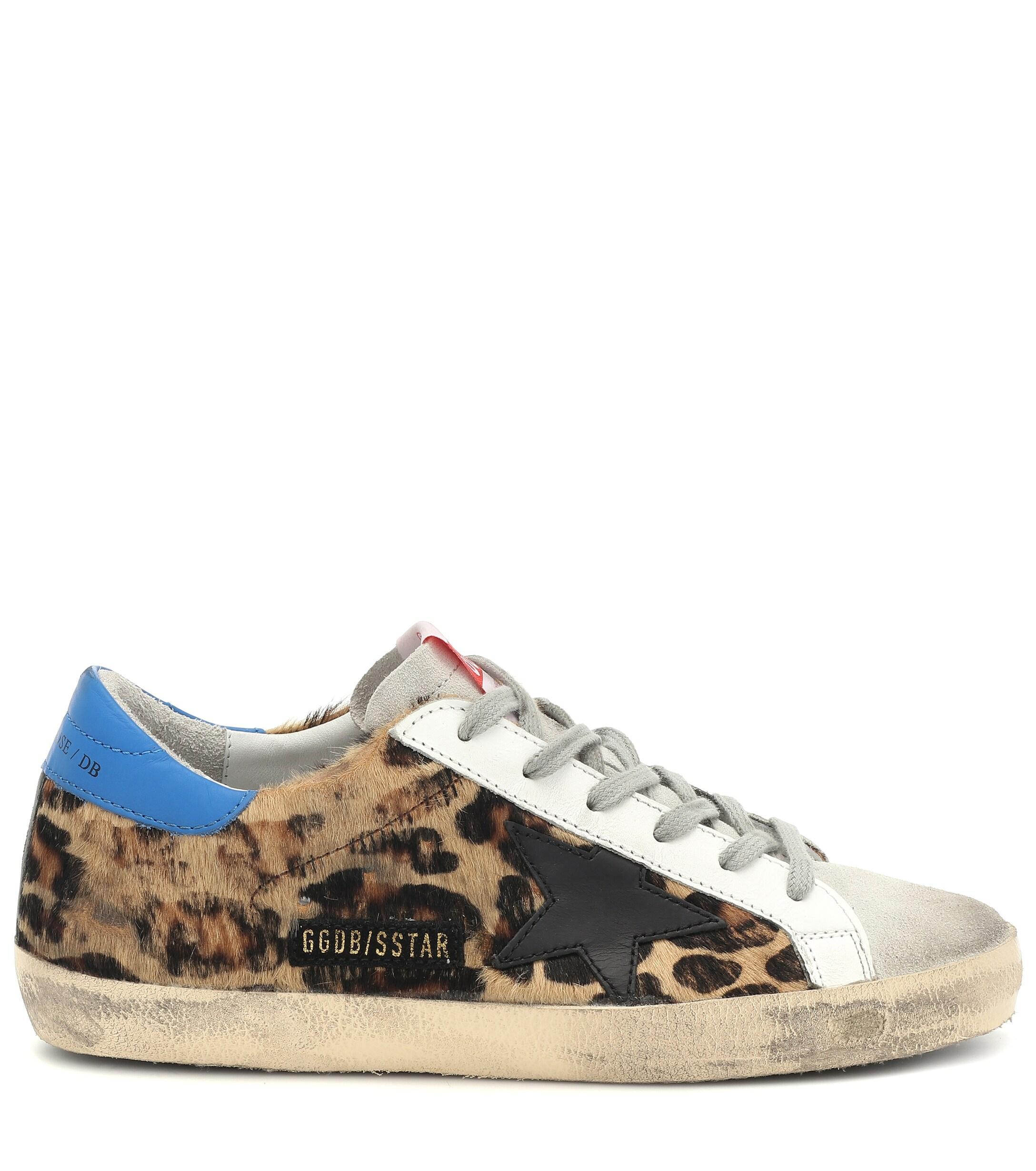 e5827ab0788f Golden Goose Deluxe Brand Superstar Leopard Sneakers - Lyst