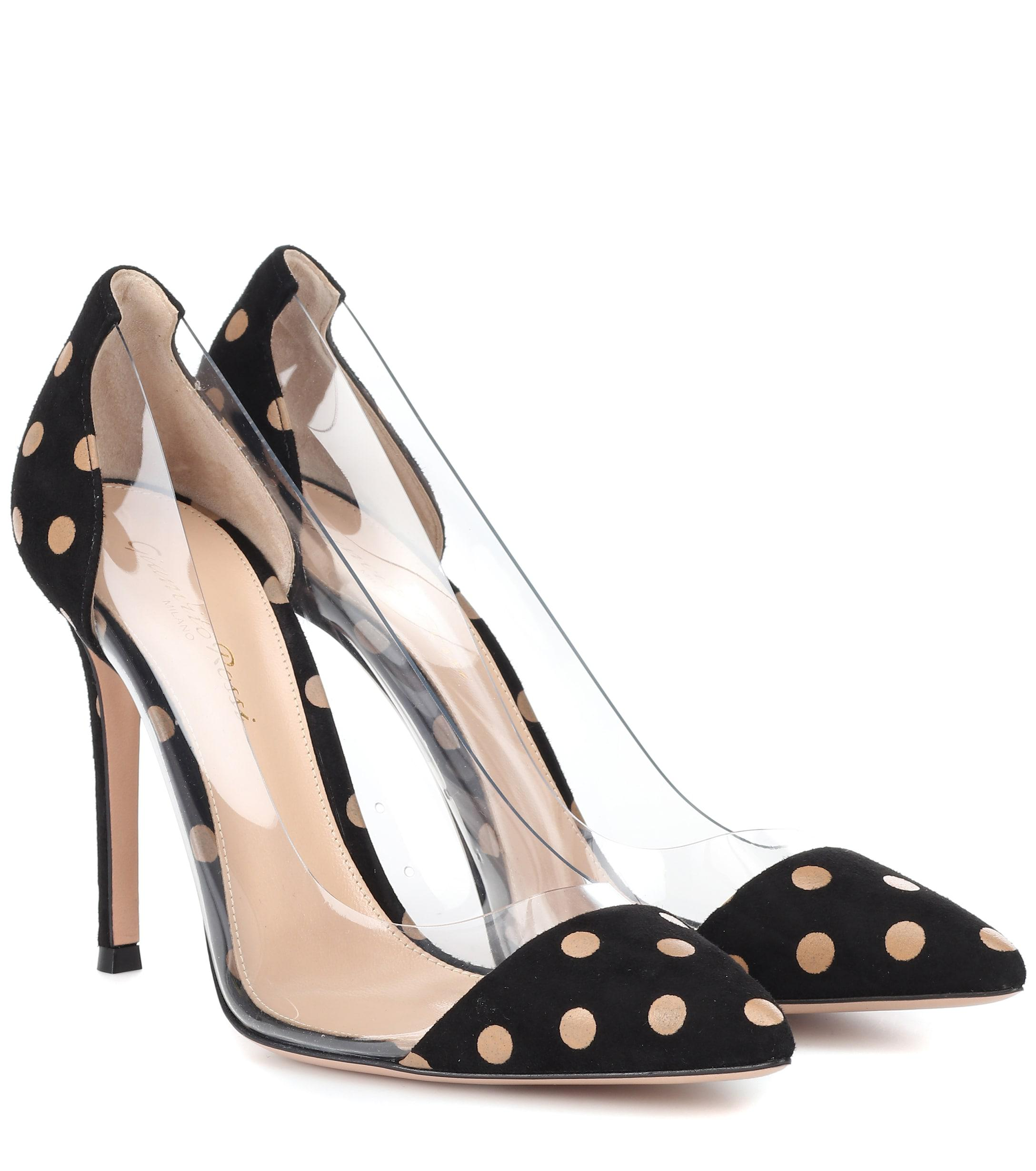 f2ce8827954f2 Gianvito Rossi. Women s Black Exclusive To Mytheresa – Plexi Polka-dot Suede  Pumps