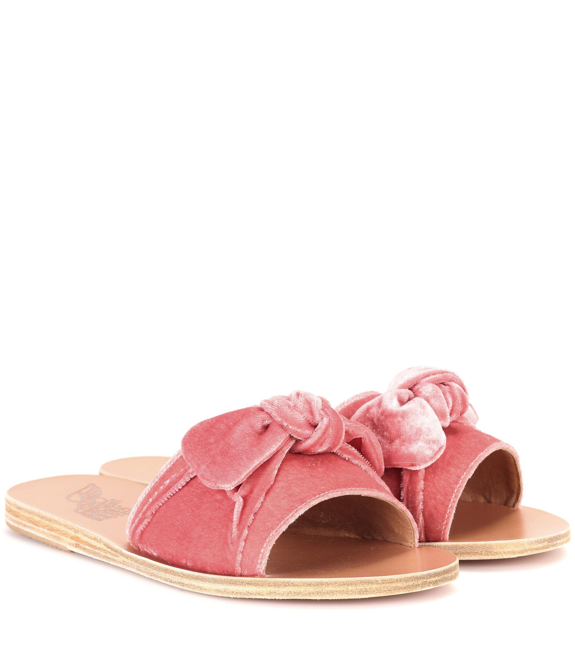 Valentino Pink Denim Taygete Sandals