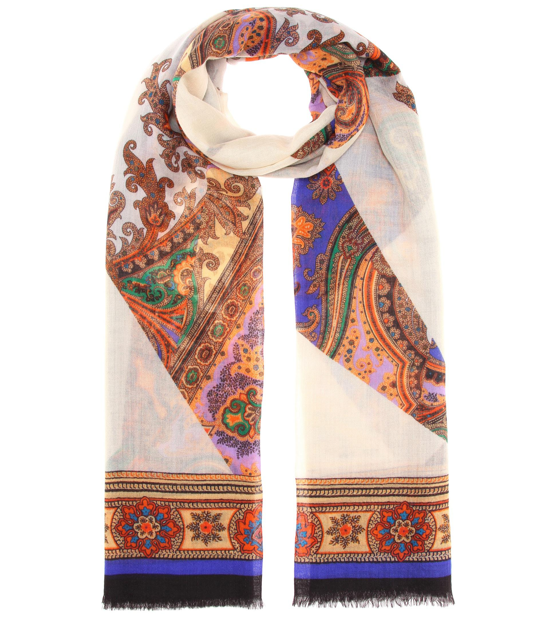 Bordered floral scarf Etro