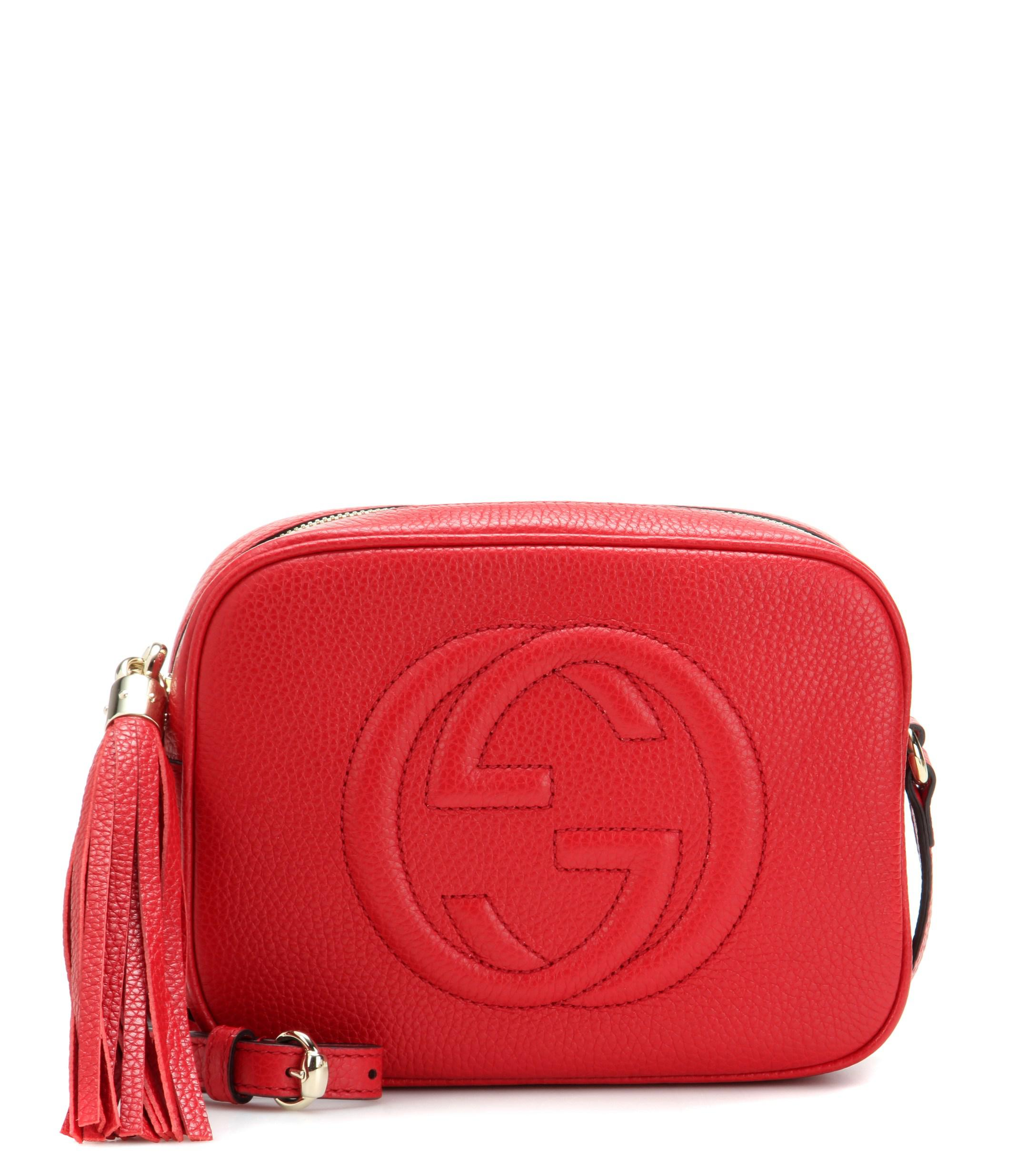 f21982c280ac Lyst - Gucci Soho Disco Leather Shoulder Bag in Red