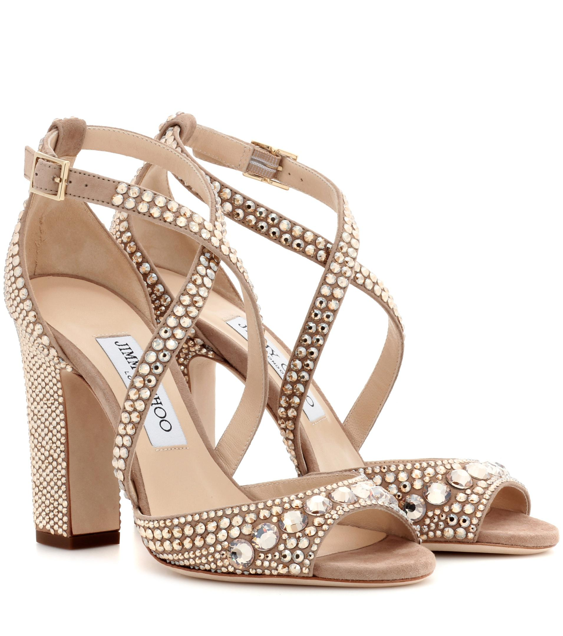 Jimmy choo Carrie 100 glitter sandals pVOUV