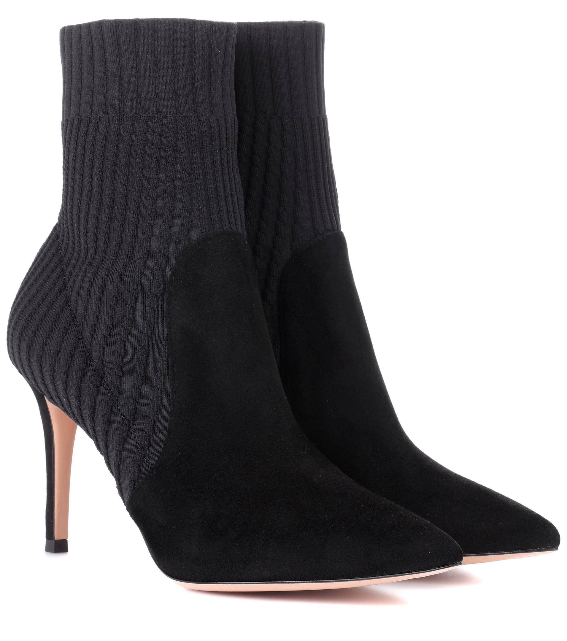 Katie 105 Black Knit Booties Gianvito Rossi Buy Cheap Many Kinds Of Free Shipping Cheap Price Cheap Sale For Cheap Kf6oqbtbEb