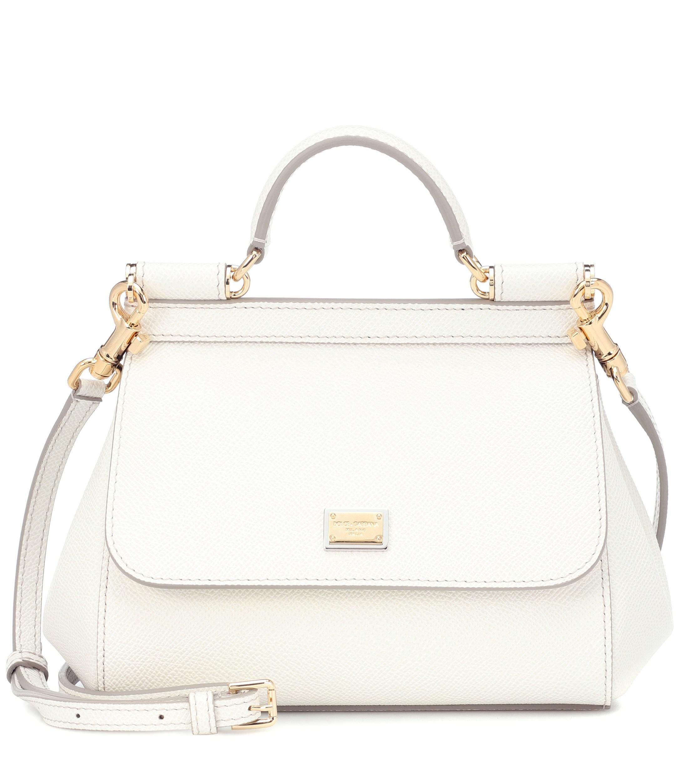 660a3b99f53 Lyst - Dolce & Gabbana Sicily Small Shoulder Bag in White - Save ...