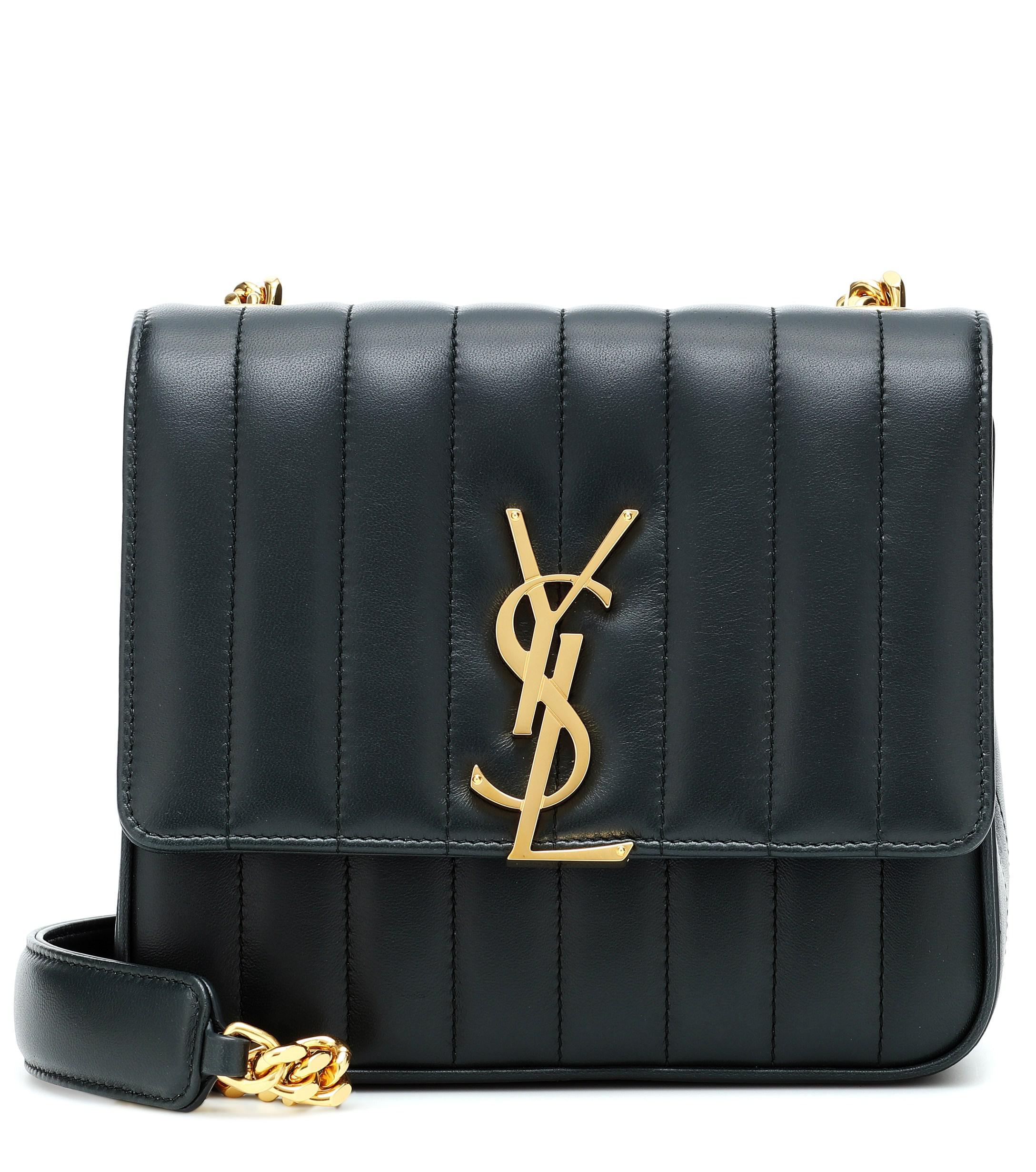 e73d2b44f4788 Lyst - Saint Laurent Vicky Medium Leather Shoulder Bag in Green