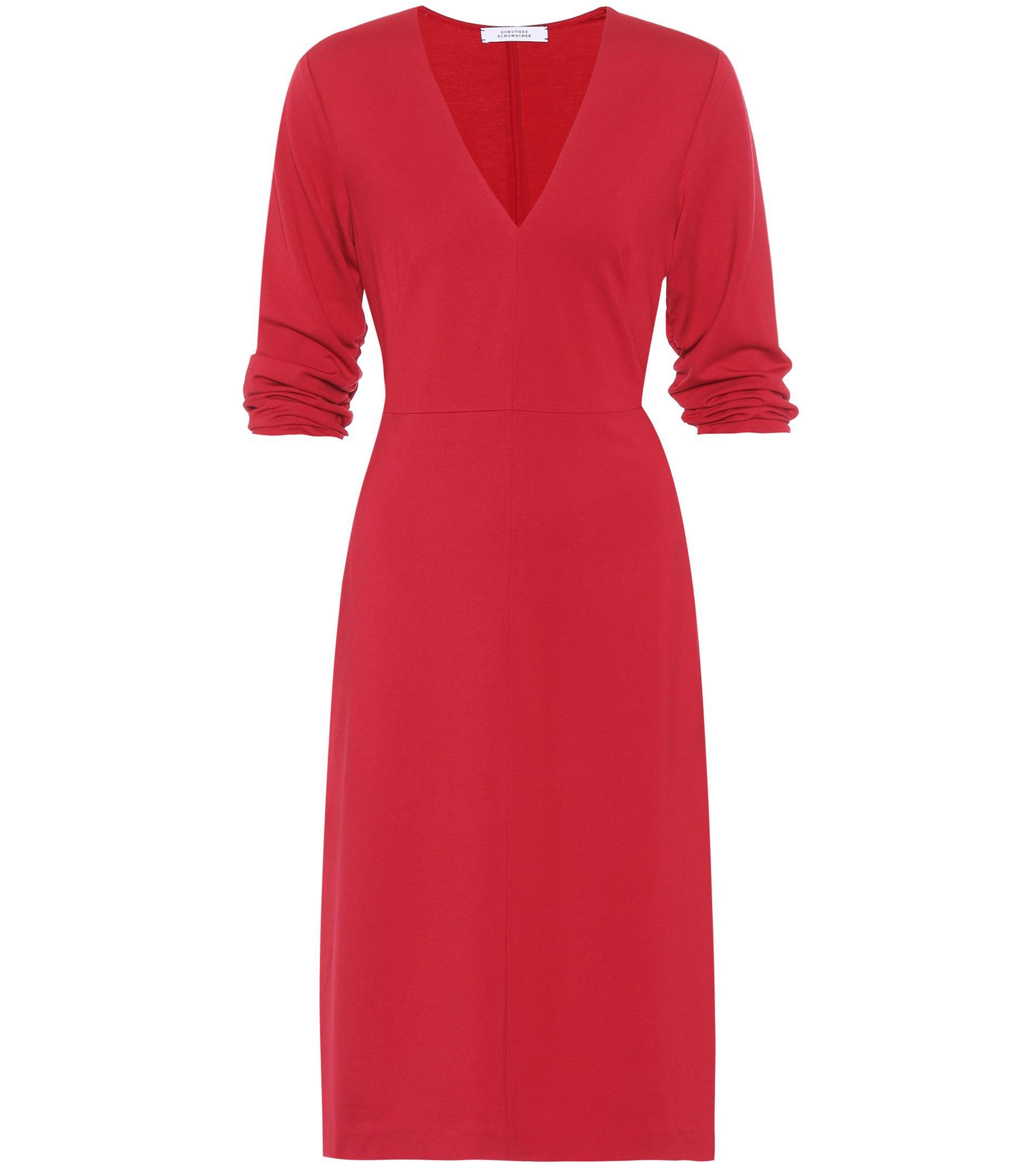 lyst dorothee schumacher effortless chic jersey dress in red save 8. Black Bedroom Furniture Sets. Home Design Ideas