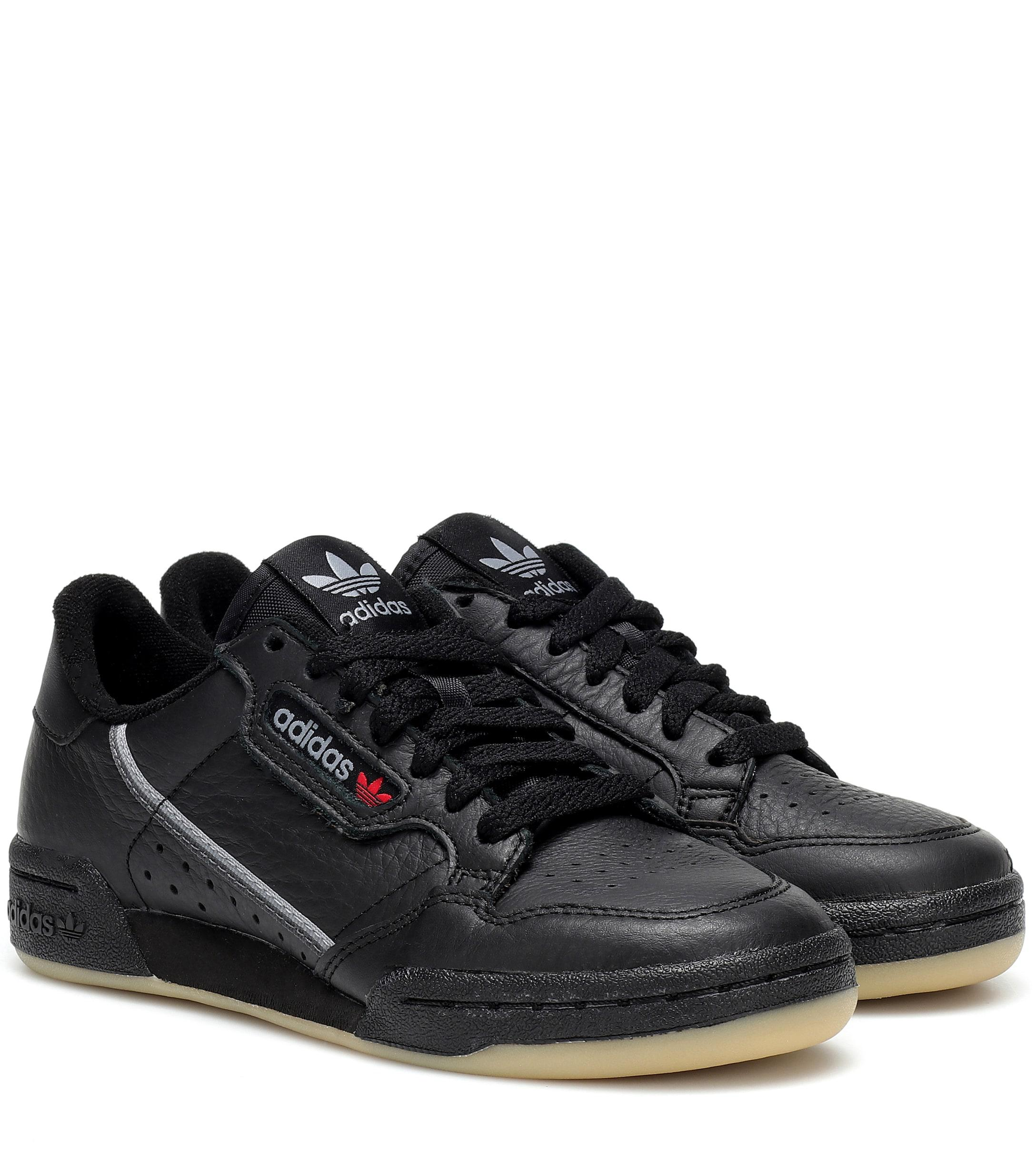 0d8c78d5f758fc Adidas Originals Continental 80 Leather Sneakers in Black - Lyst