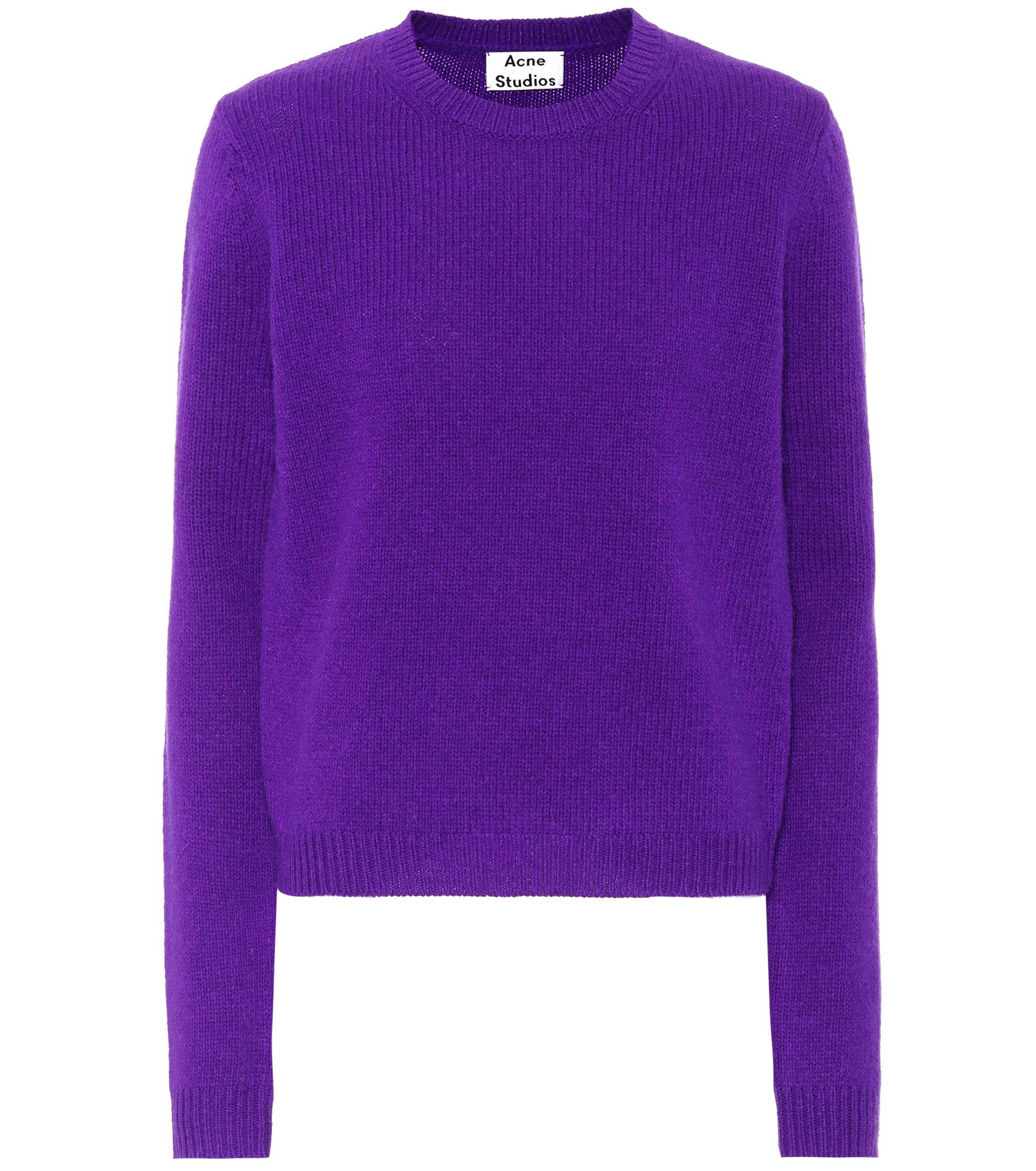 Acne Siw Wool Sweater in Purple | Lyst