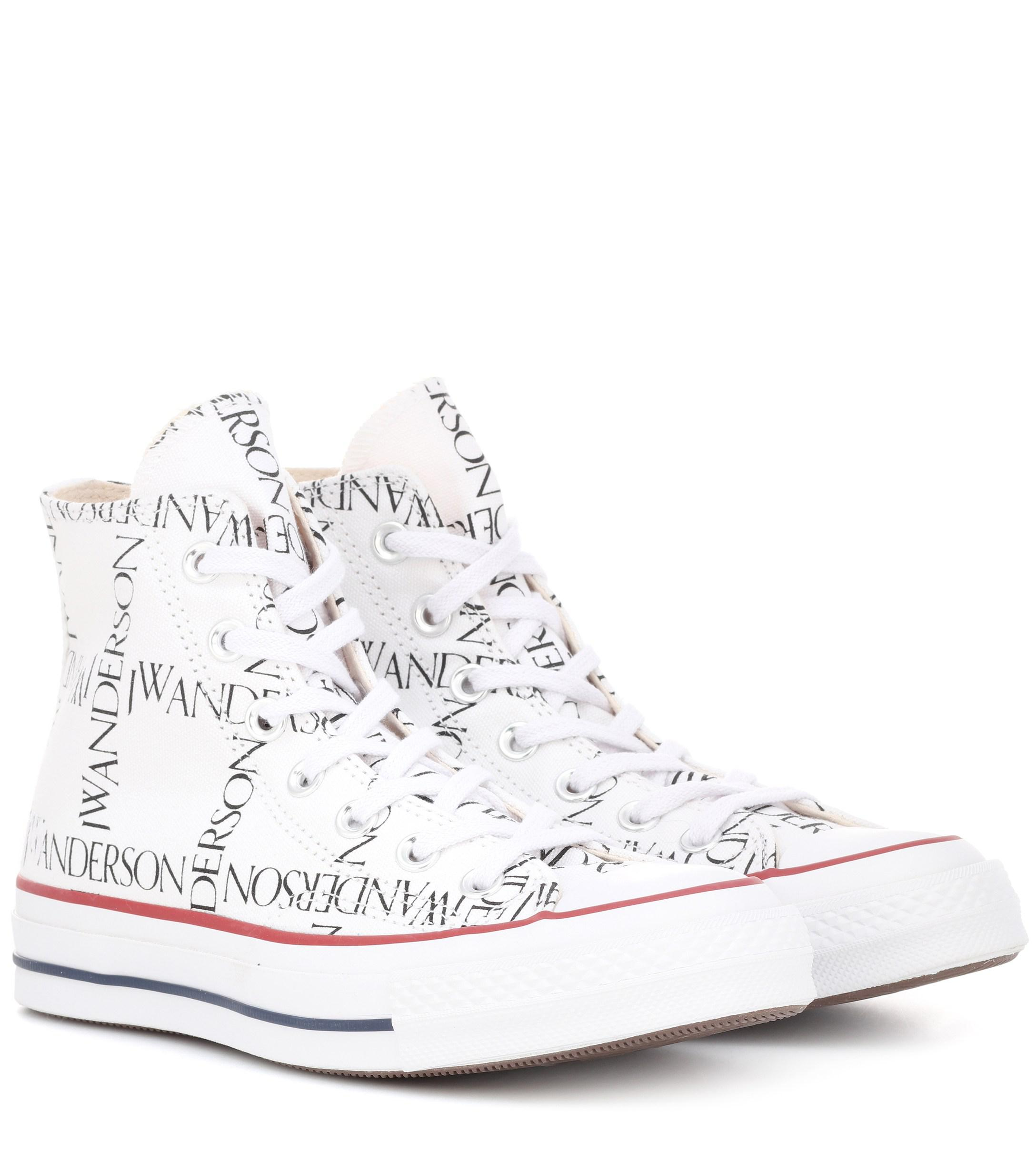 Lyst - J.W. Anderson X Converse Chuck 70 Logo-print Sneakers in White a5035f0c7