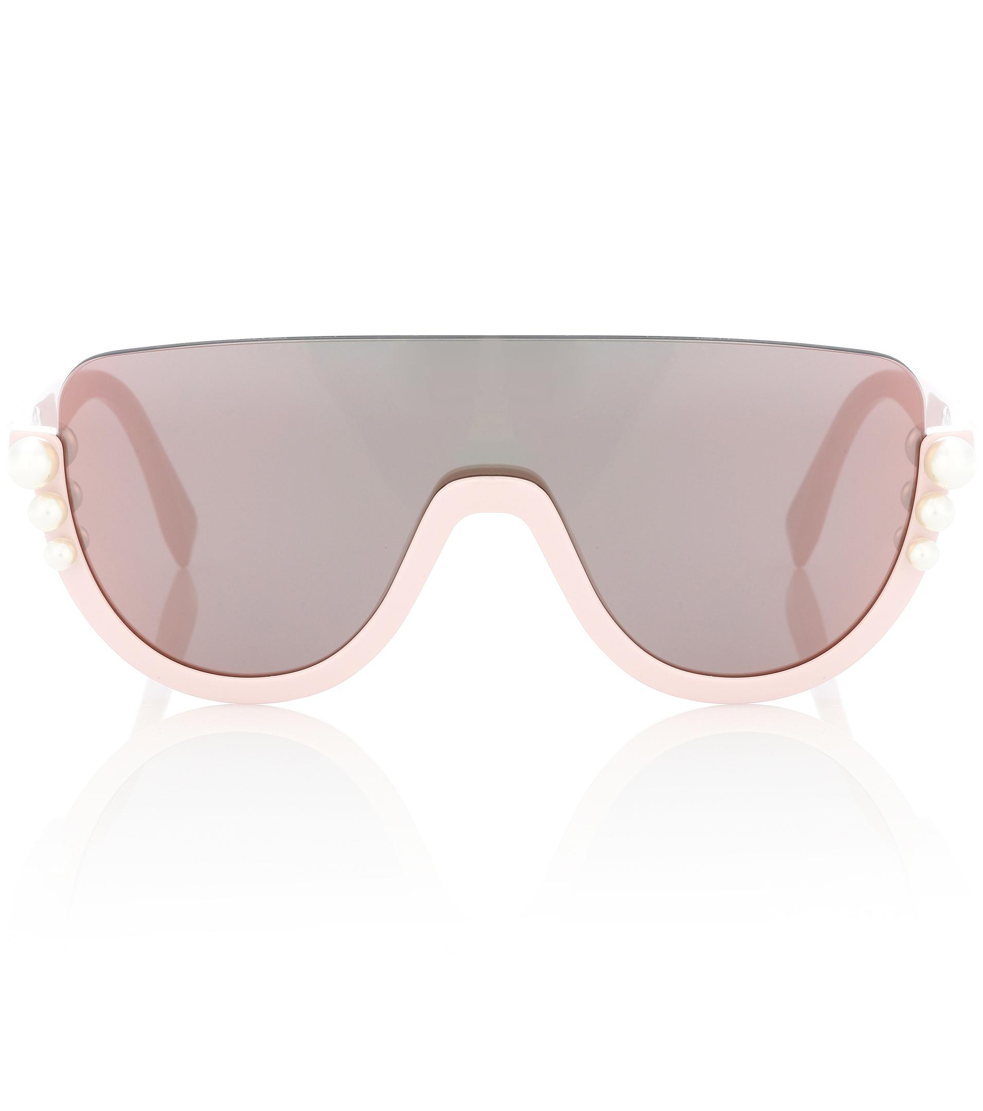 16e2045160e43 Fendi Ribbons And Pearls Sunglasses in Pink - Lyst