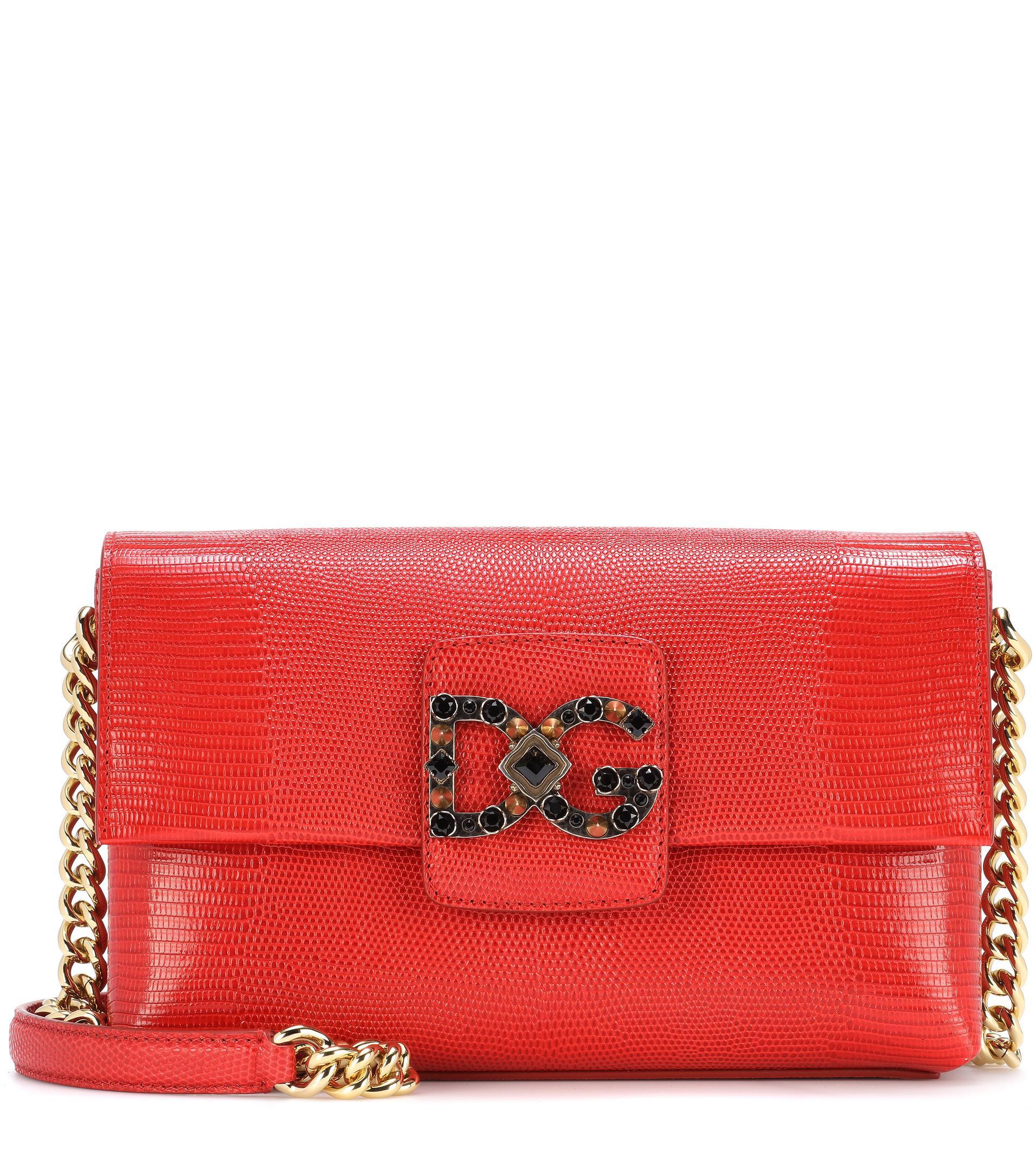 Dolce & Gabbana DG Millennials red leather bag NWQh2NG8aV