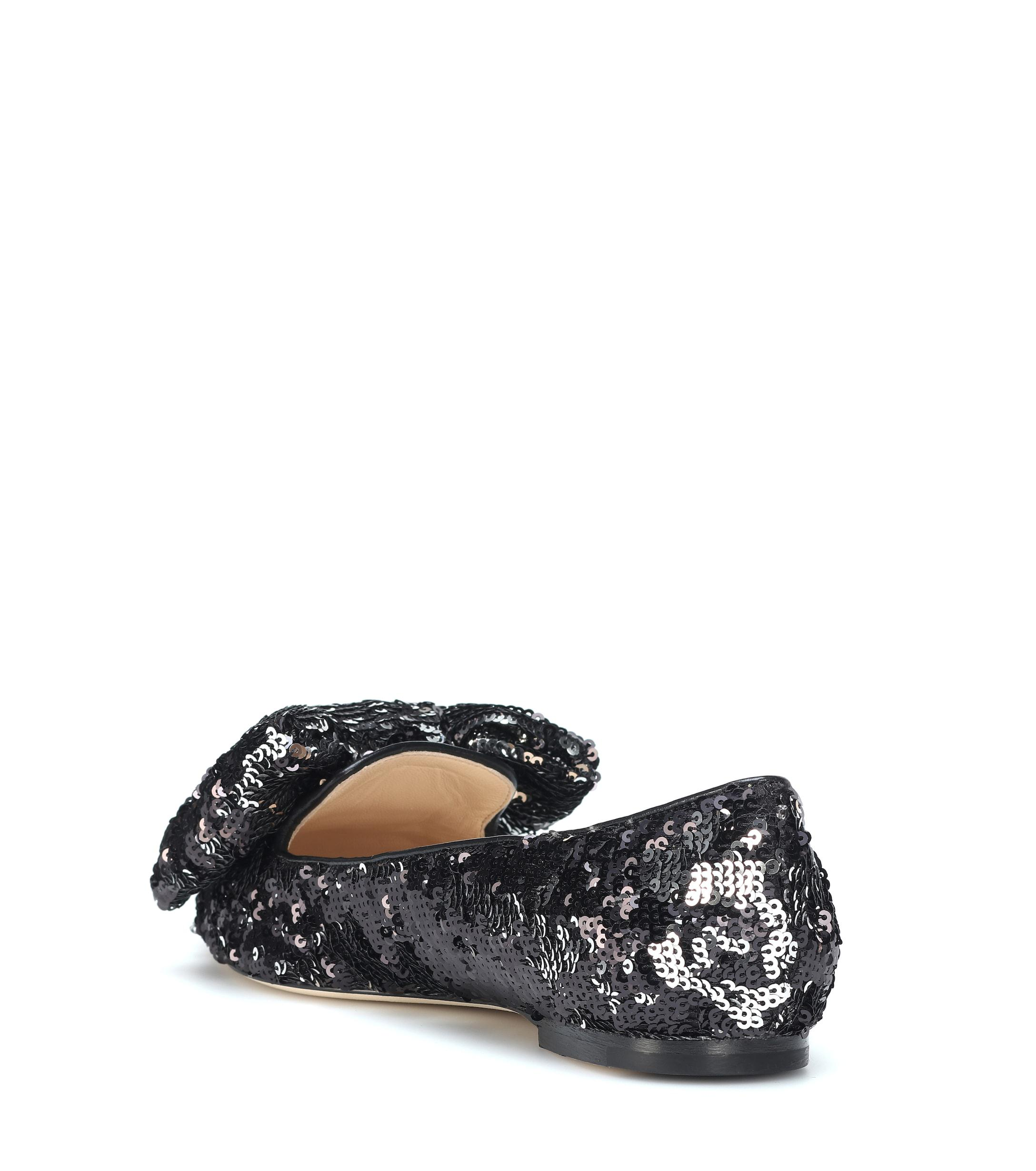 Jimmy In Lyst Black Ballet Gilly Flats Sequined Choo rX0xw6qSr