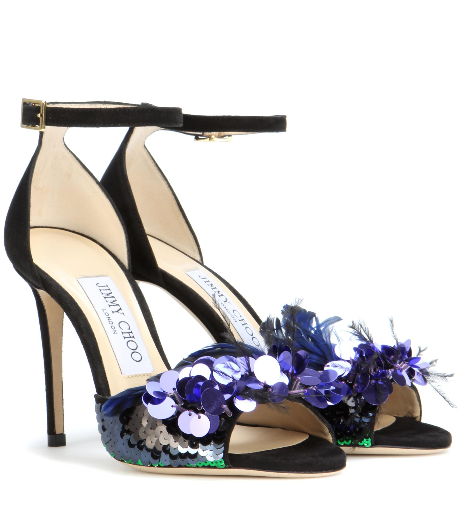 Annie 100 embellished suede sandals Jimmy Choo London qetFo2