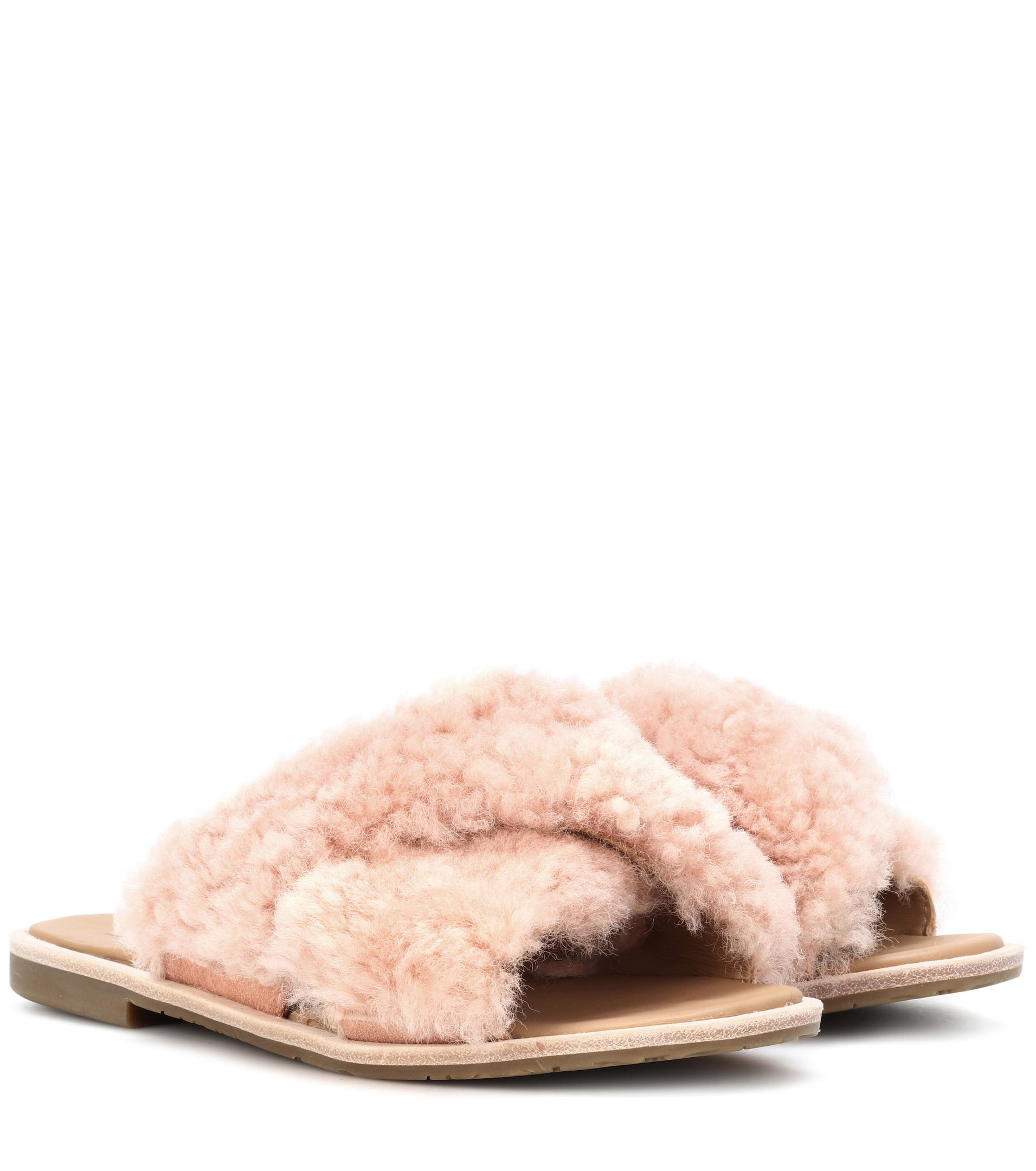UGG Sandals JONI fur rose Buy Cheap Low Shipping Fee Low Price Cheap Price Outlet Explore fyRQaH