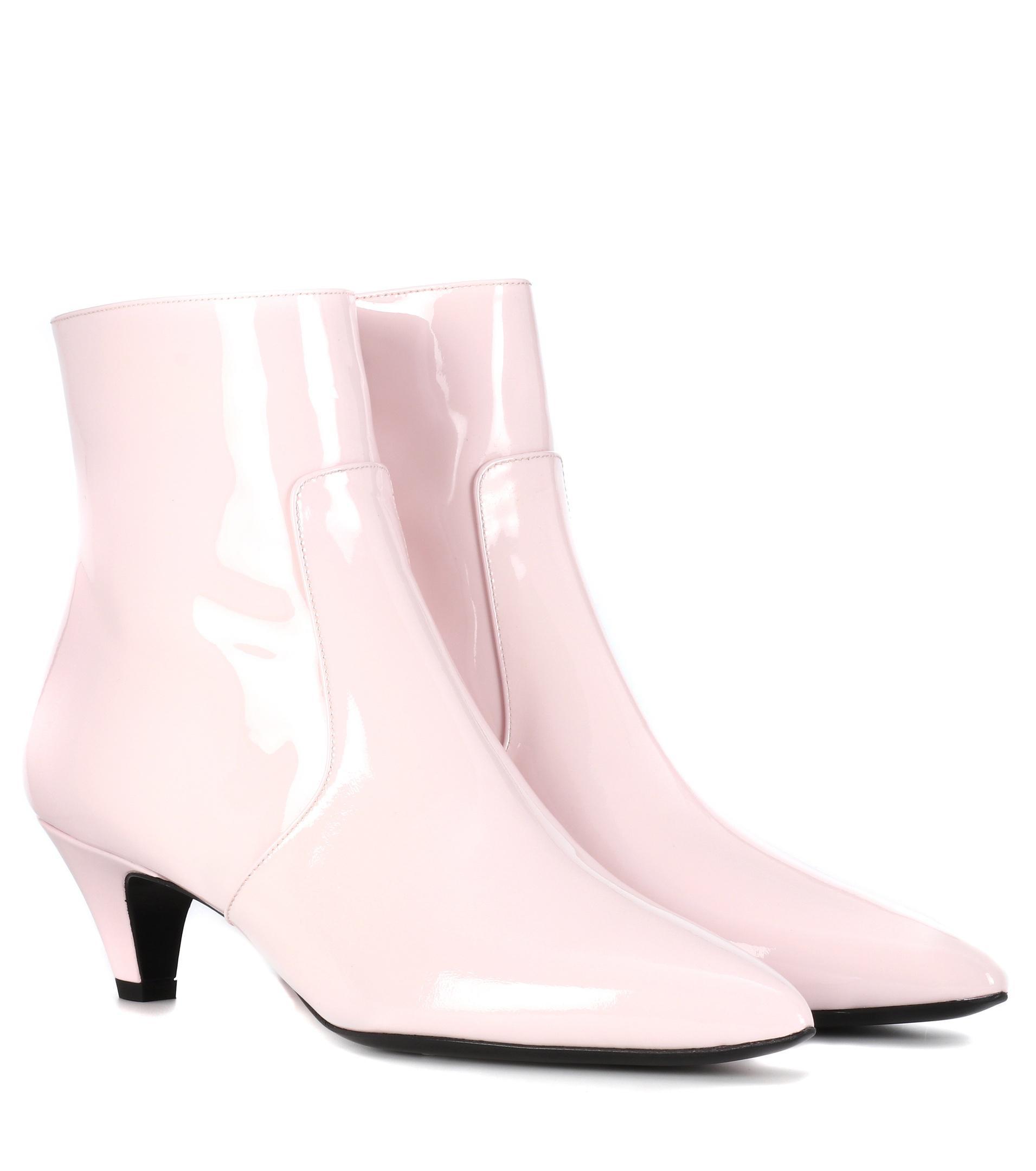 Calvin Klein 205W39NYC Pink Patent Kat Boots GcixJS7C