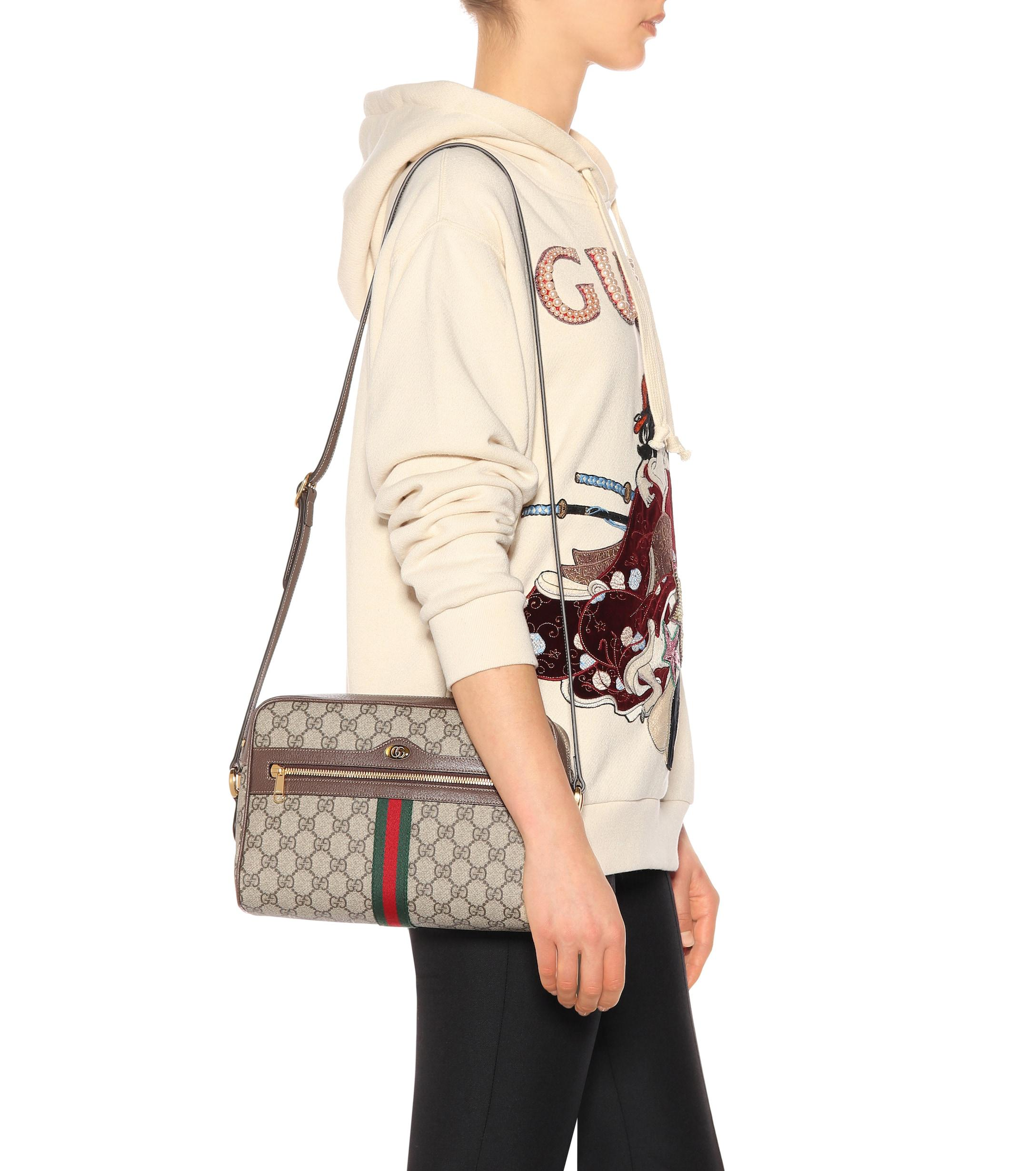 Gucci Natural Ophidia Small Gg Supreme Shoulder Bag Lyst View Fullscreen