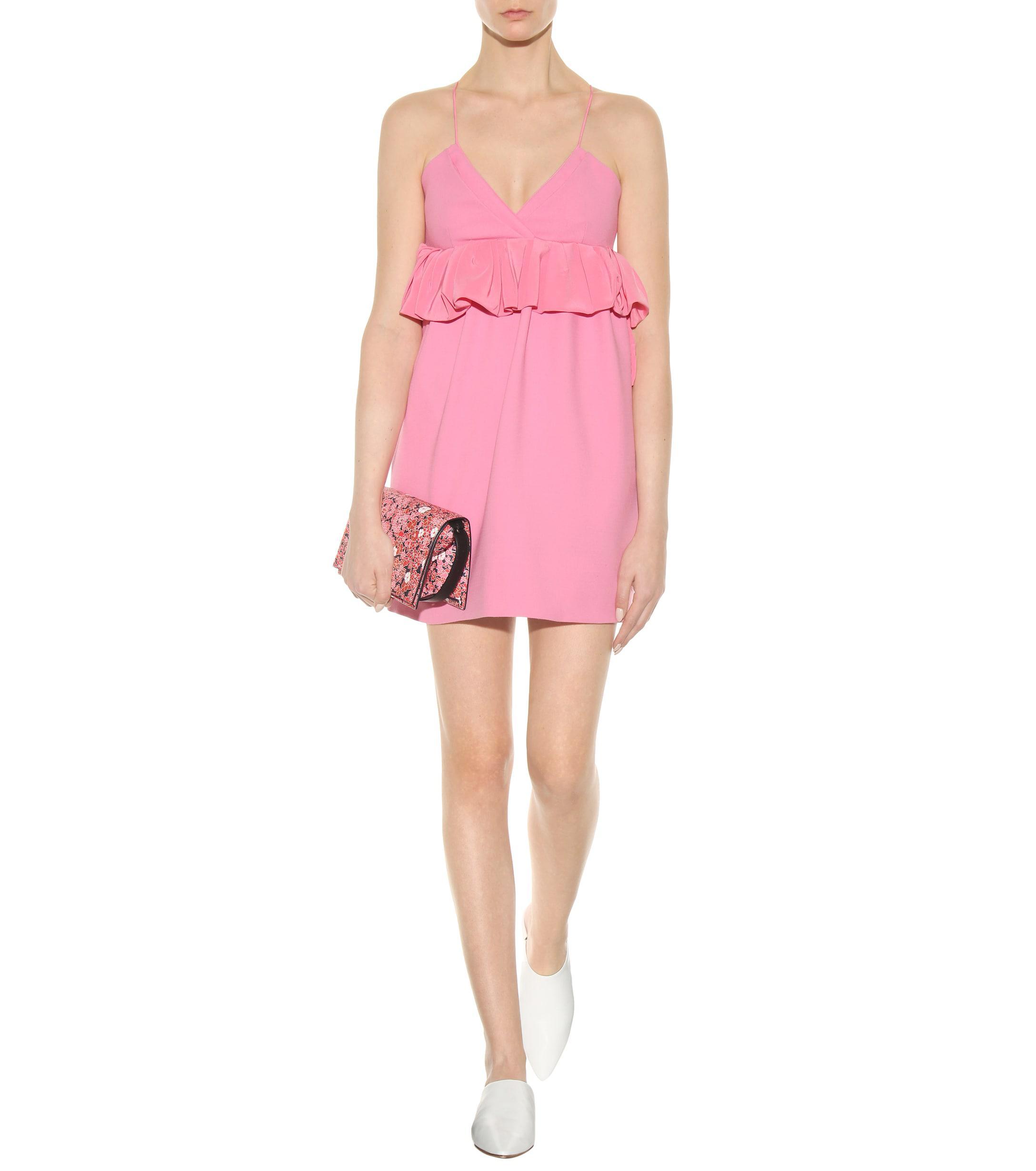 seda Pink exclusivo Victoria lana de y para Beckham vestido C8wxqAP
