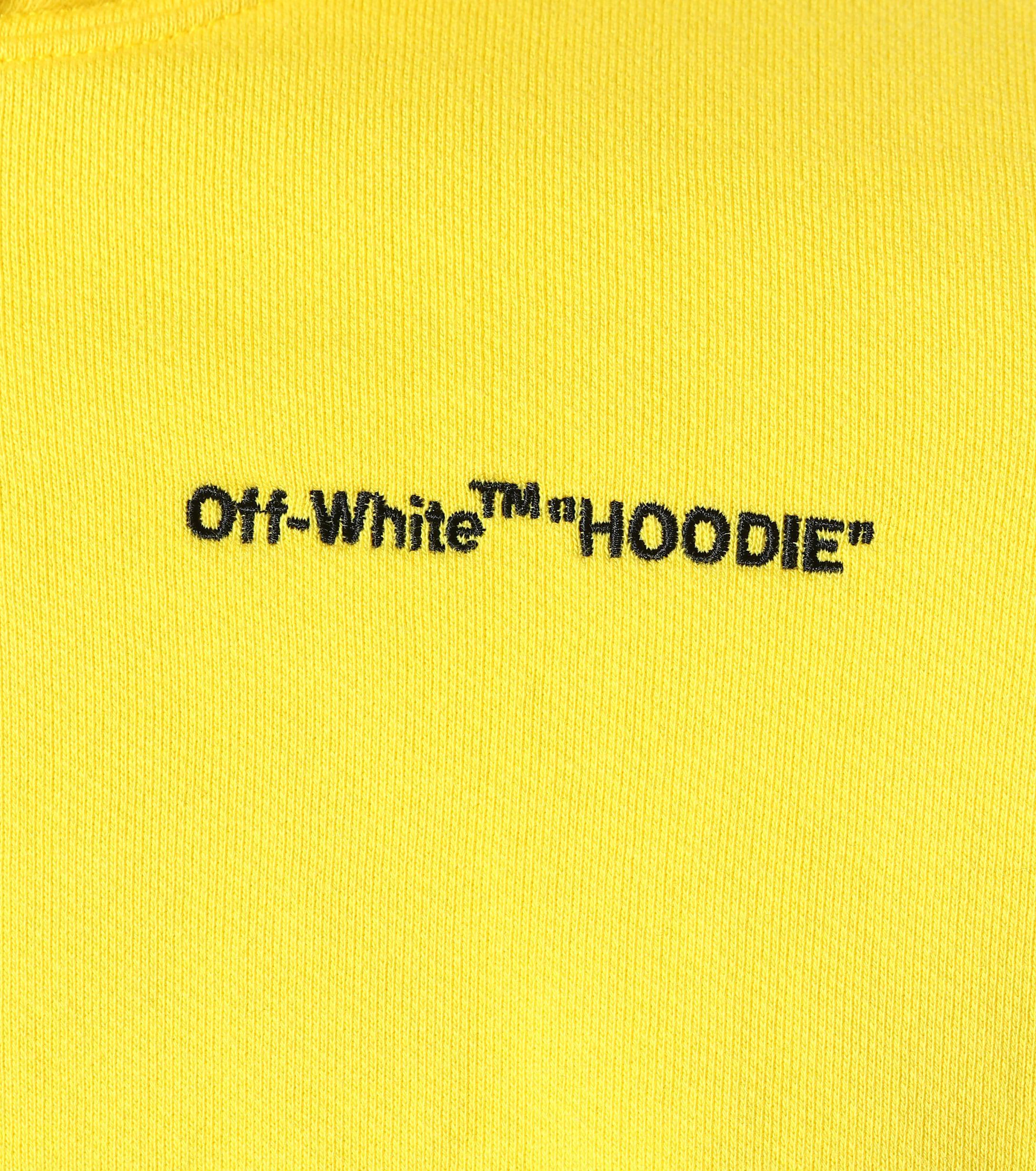 Hoodie Off white Sweat Jaune Capuche À Crop qw1W1F8Ht
