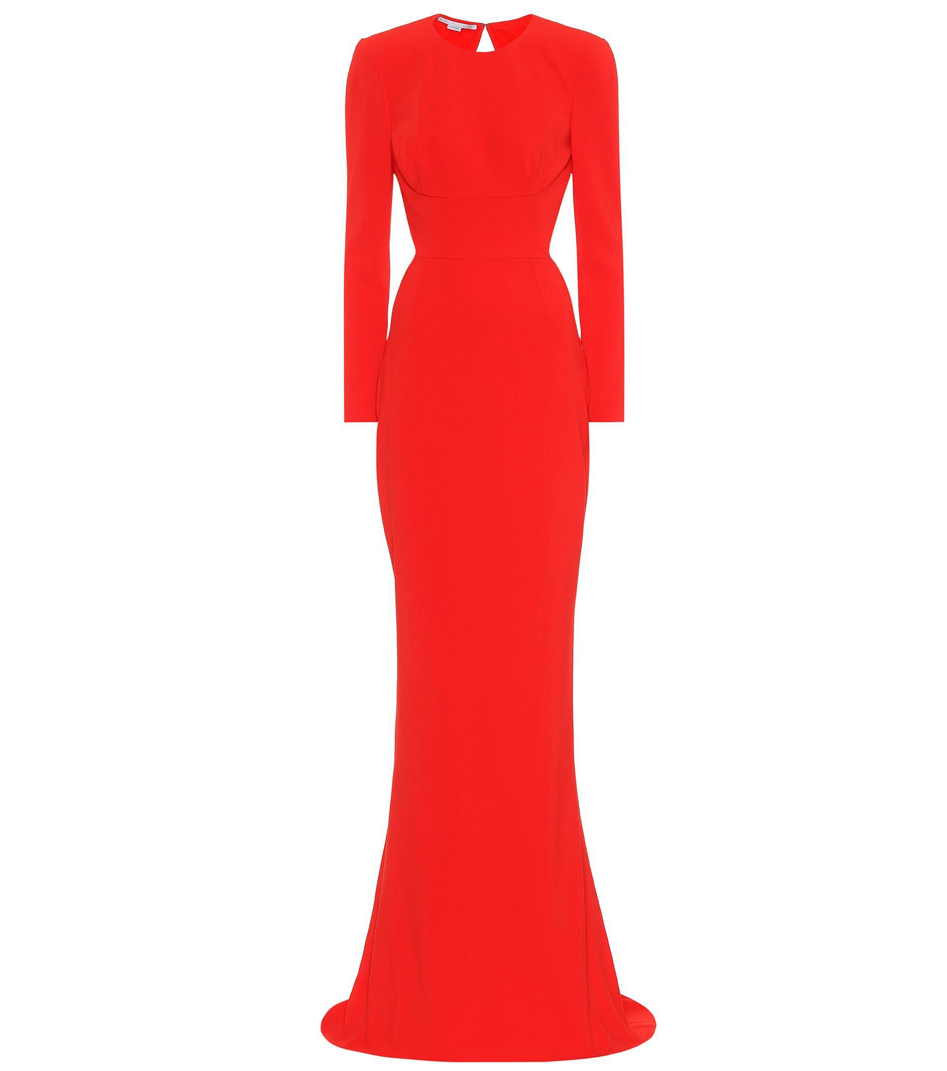 377ca0e913 Stella McCartney Crêpe Gown in Red - Lyst