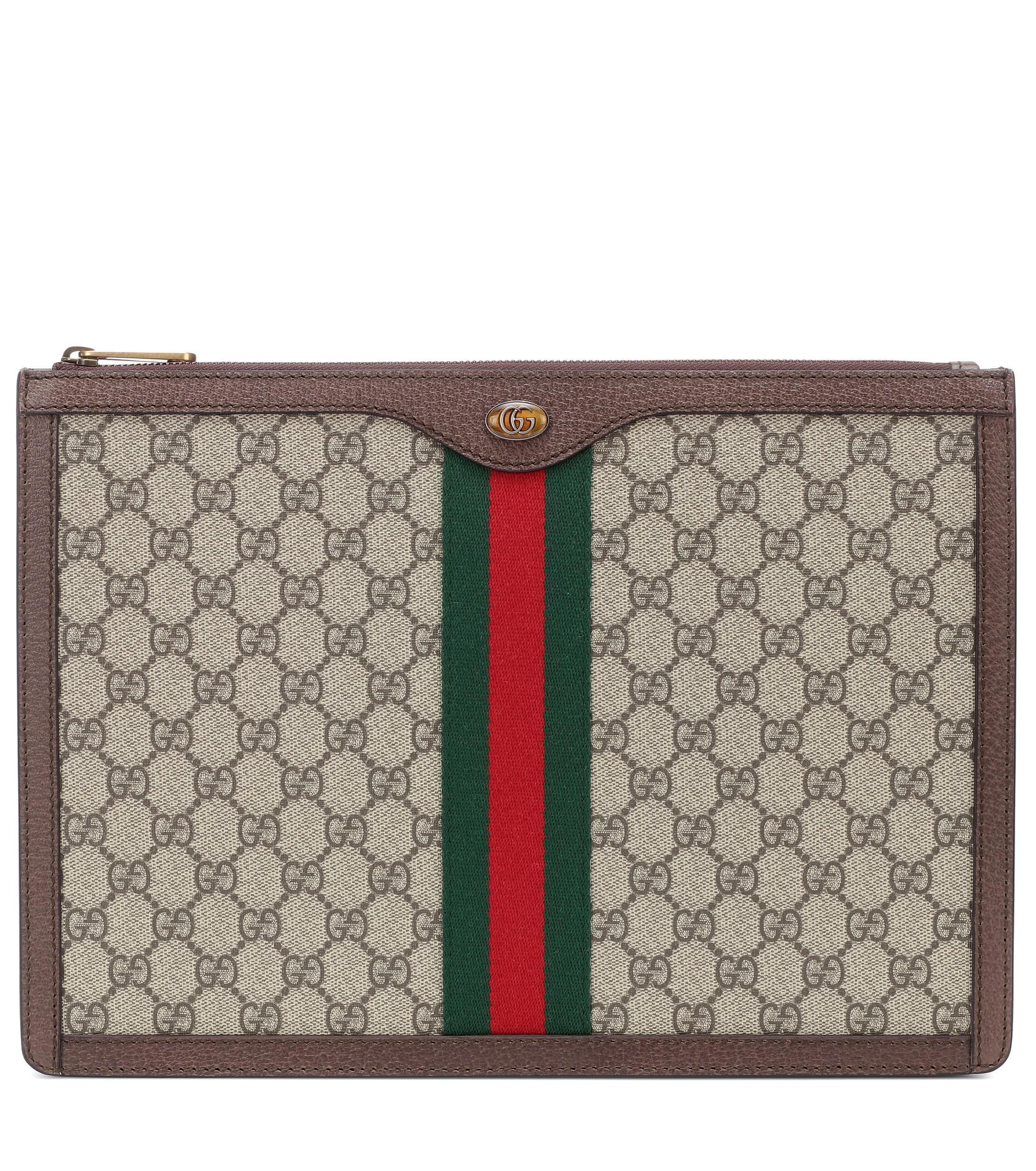 Lyst - Pochette en cuir imprimé GG Supreme Portfolio Gucci 19102750269c