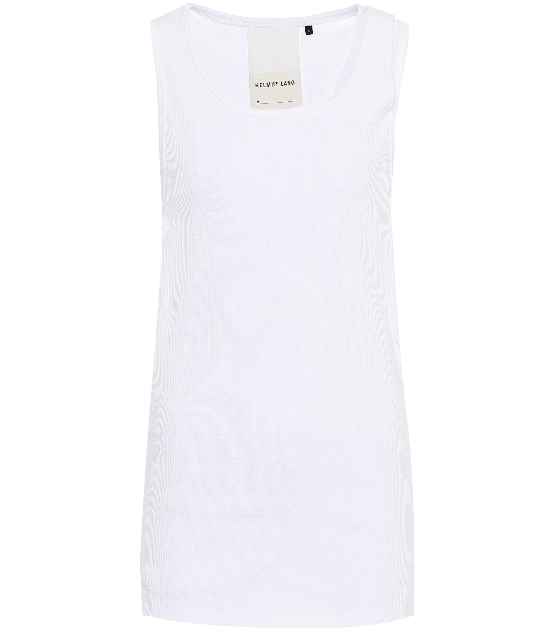 db0f24d448d59 Helmut Lang - White Reveal Cotton Tank Top - Lyst. View fullscreen