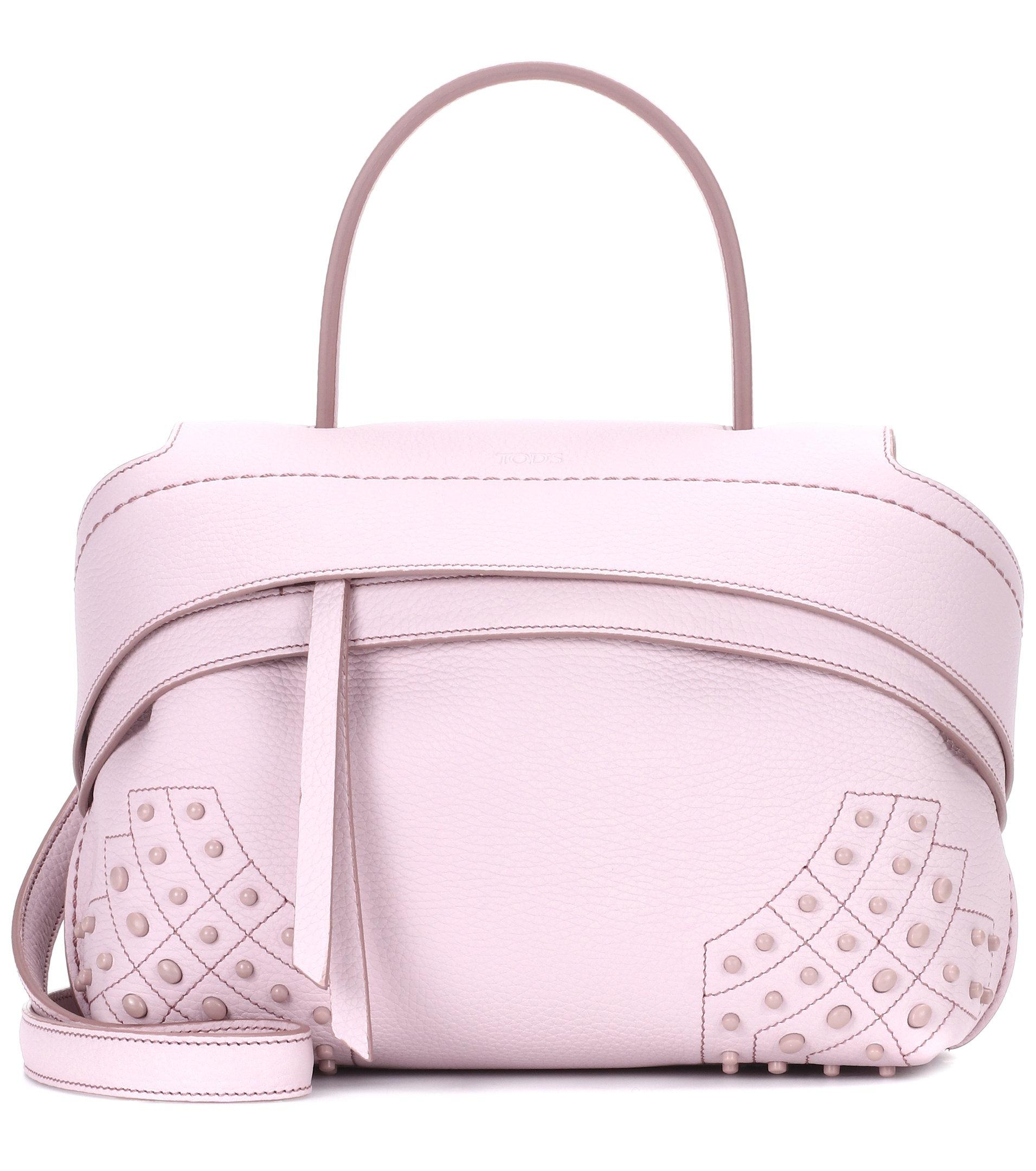 13bc199770a6 Tod S Wave Mini Leather Shoulder Bag in Pink - Lyst