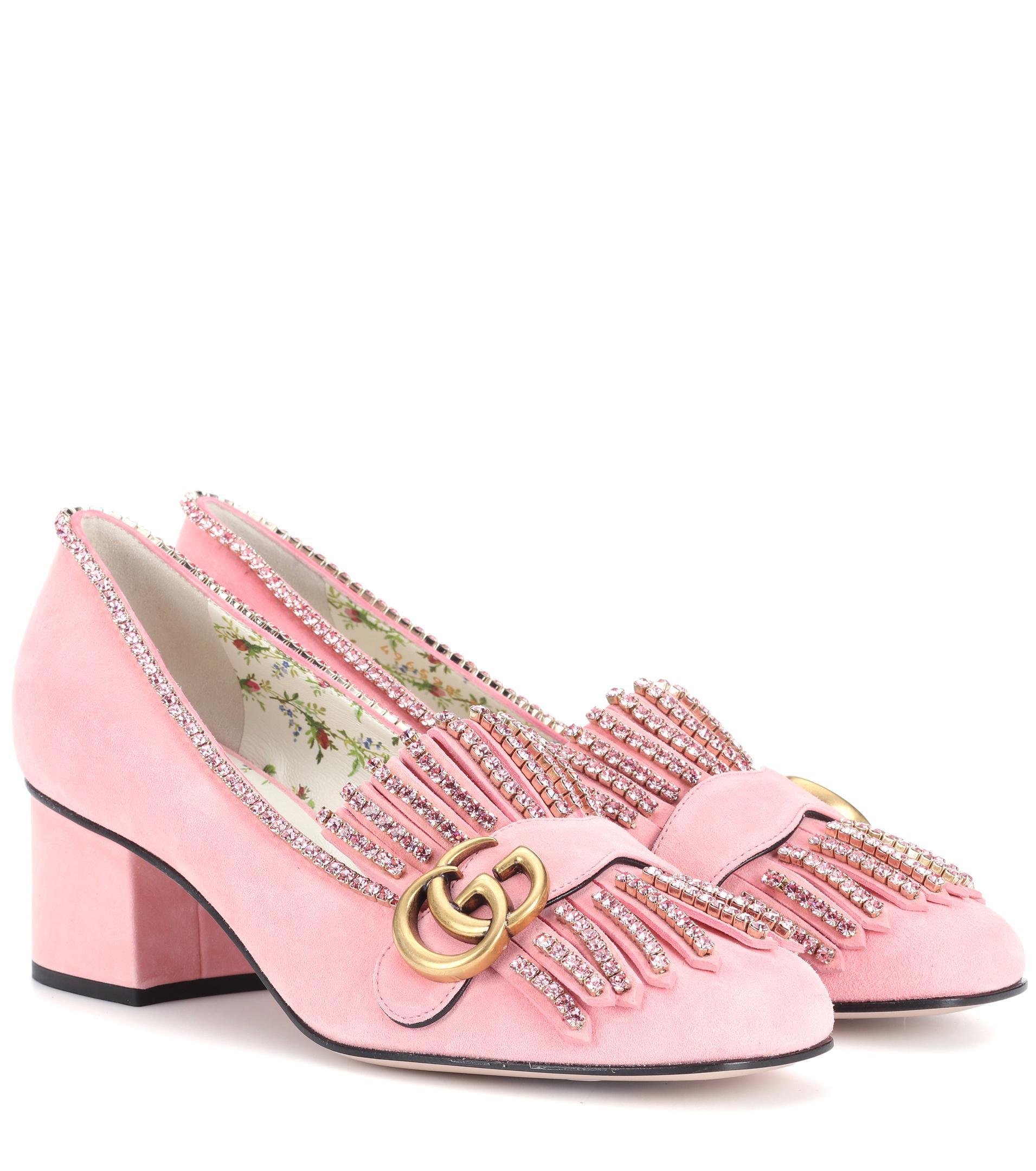 Embellished suede loafer pumps Gucci o7UjUg