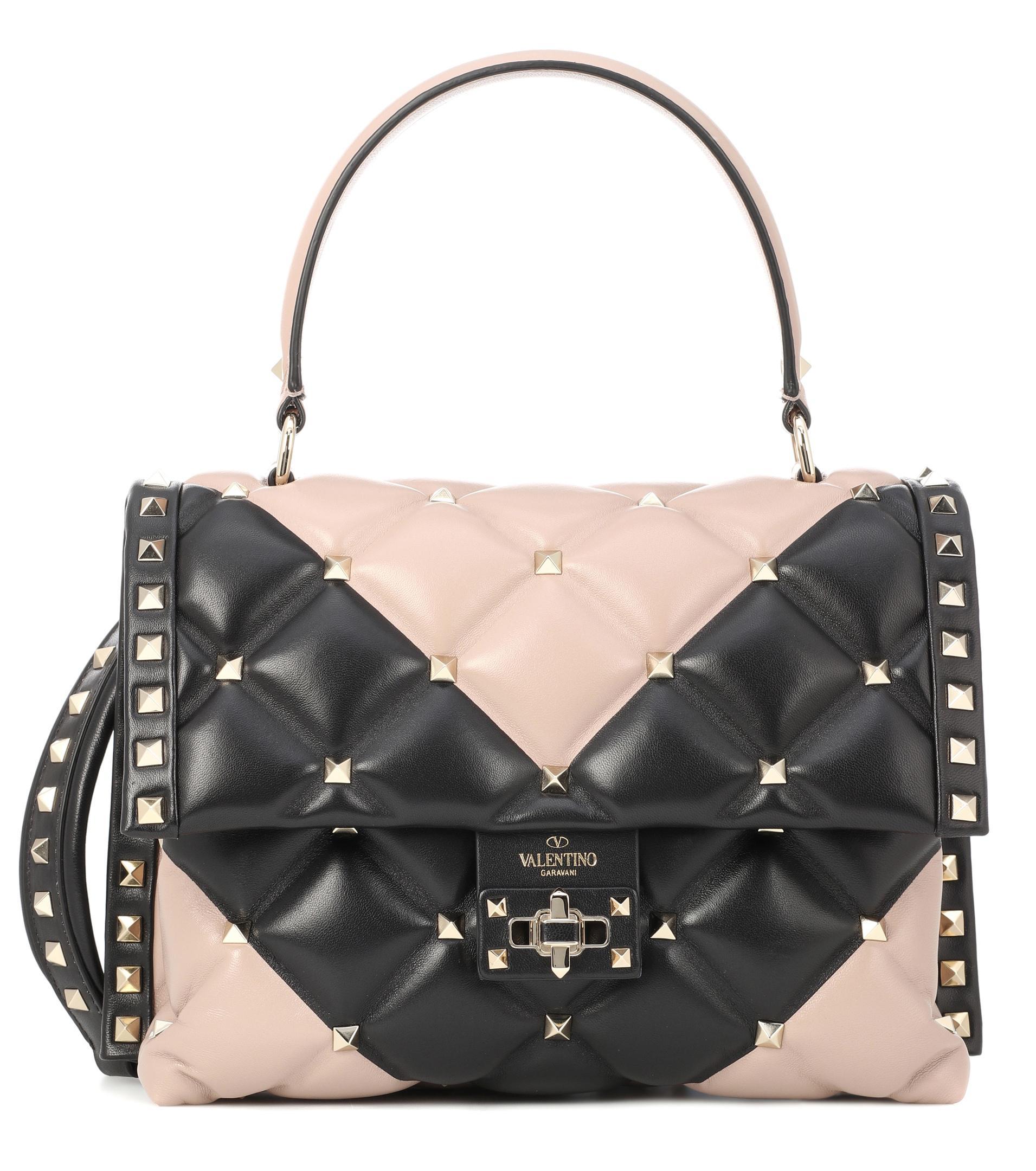 4fa2508863 Valentino Candystud Shoulder Bag in Natural - Lyst