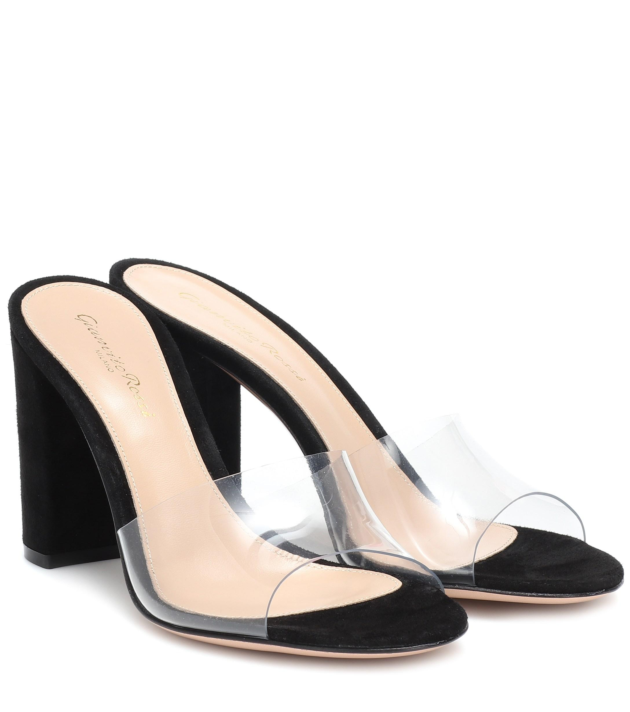 d2a7027b804 Gianvito Rossi. Women s Black Exclusive To Mytheresa – Plexi Suede Sandals