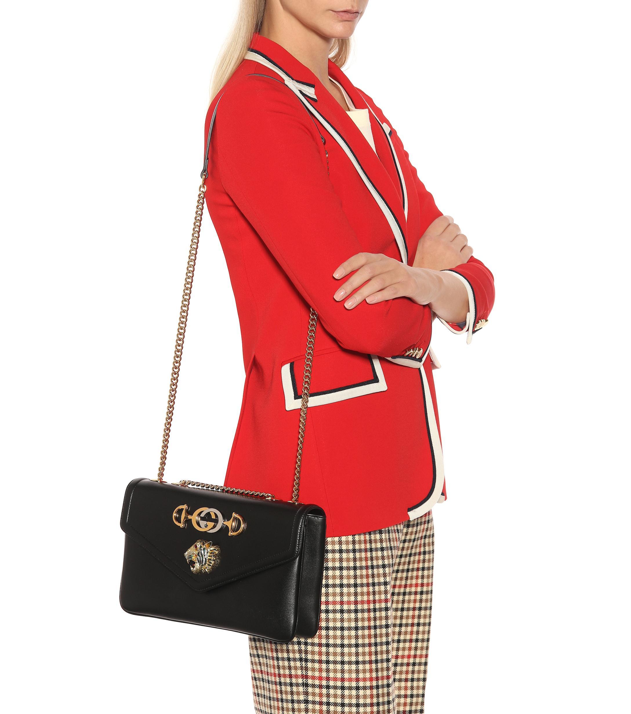 d052b7f40424 Lyst - Gucci Rajah Medium Shoulder Bag in Black - Save 13%