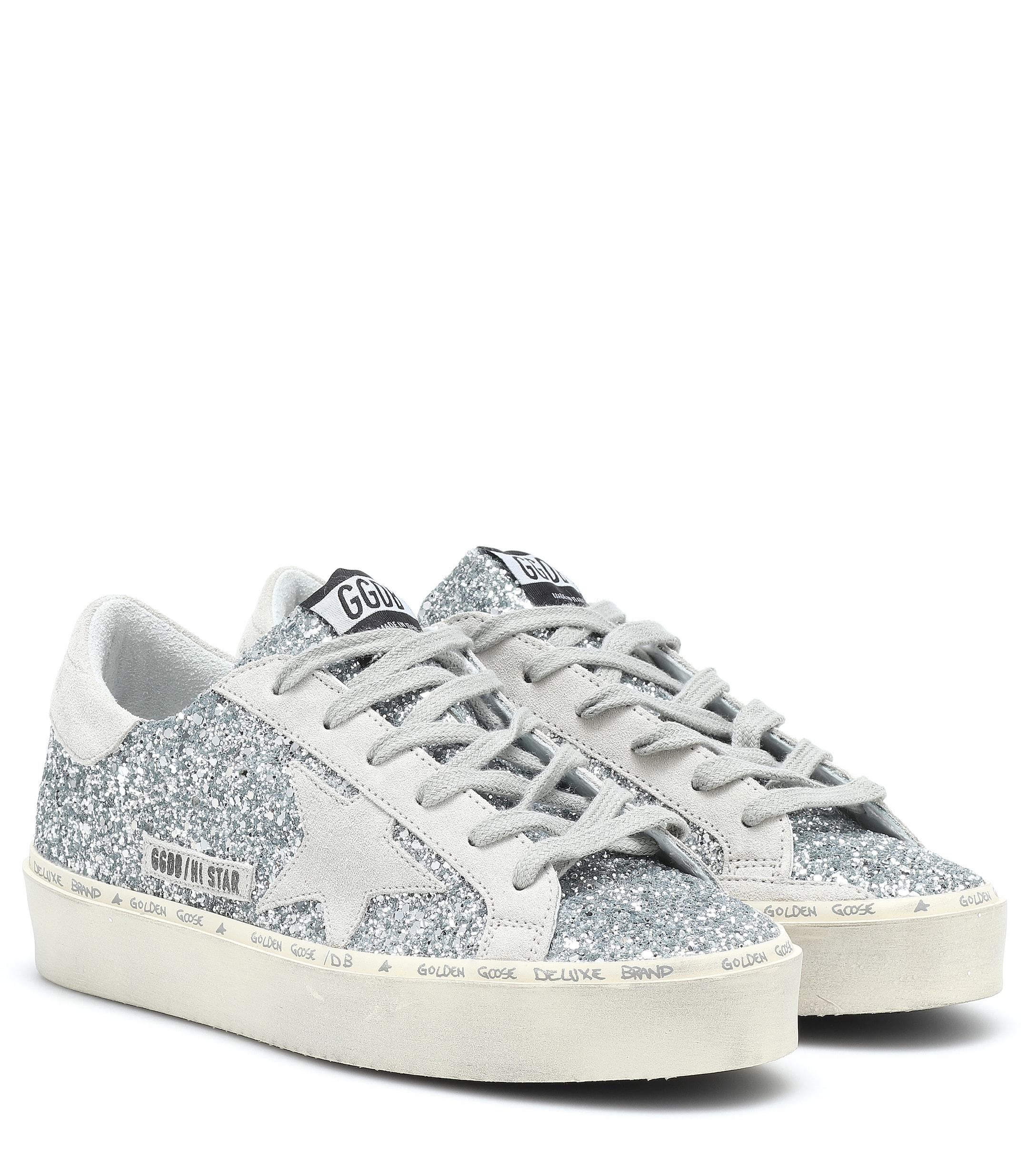 e4cd6f6911bf6 Lyst - Golden Goose Deluxe Brand Superstar Glitter Sneakers in Metallic