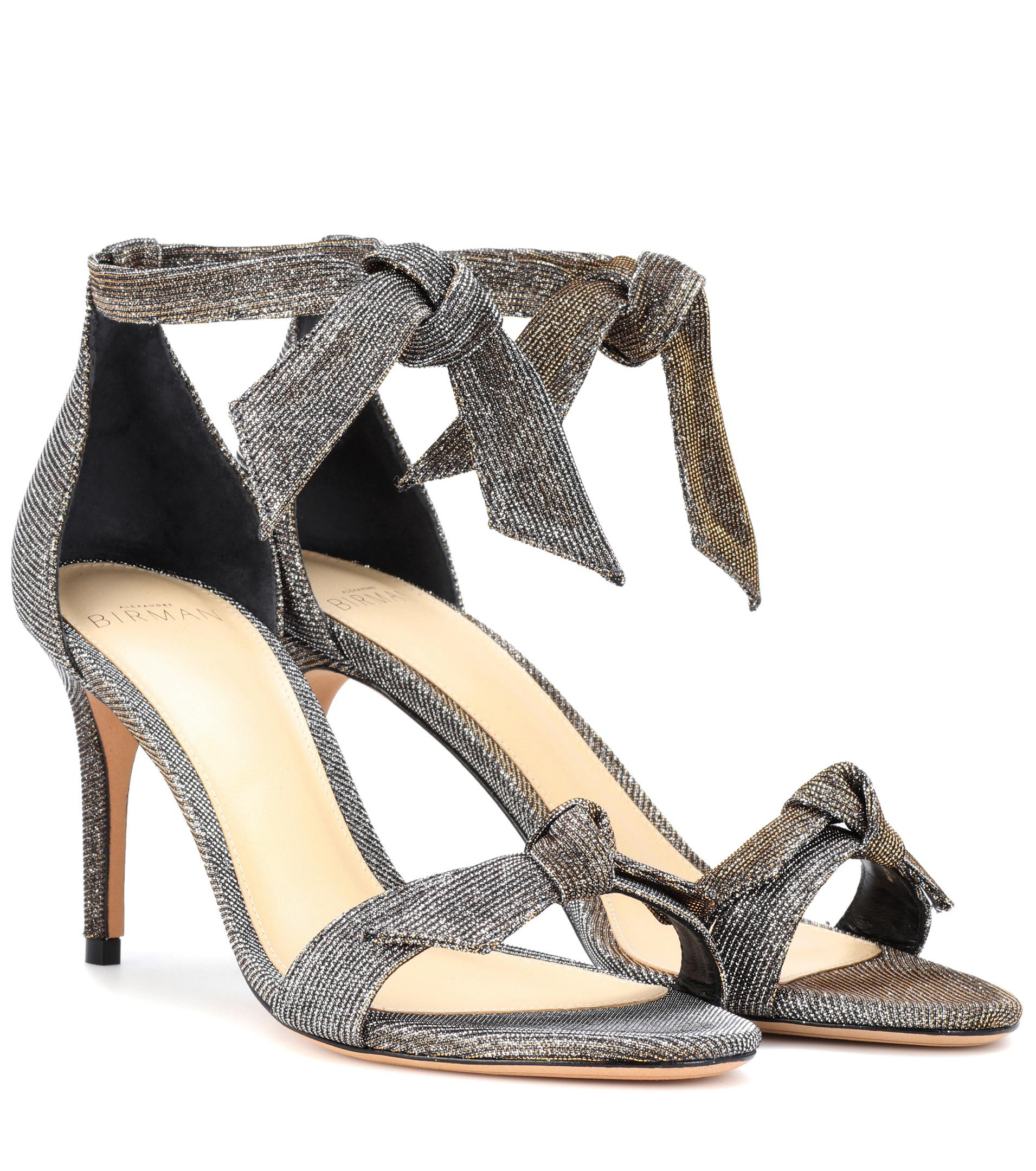 ALEXANDRE BIRMAN Clarita 75 Heels in Metallics. pAJfnd