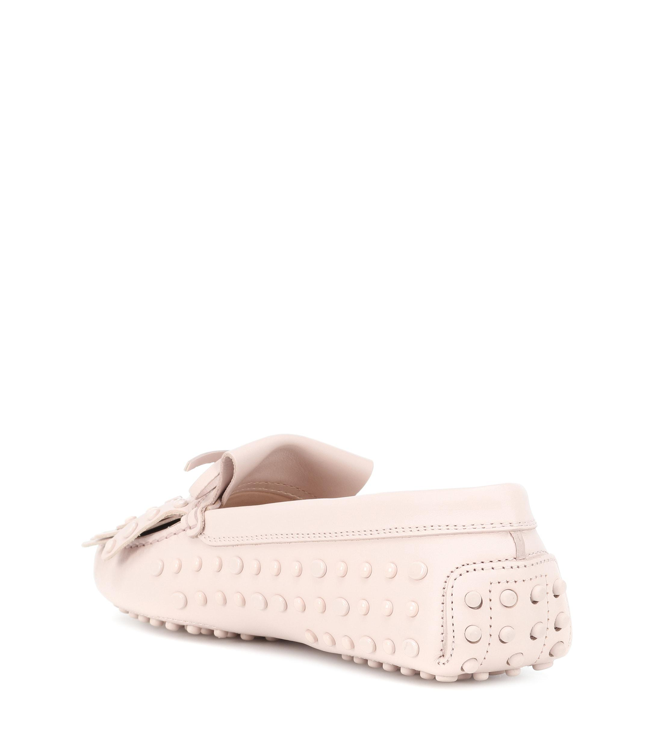d8fdbbd3d9f Tod s - Pink Gommino Leather Fringe Loafers - Lyst. View fullscreen