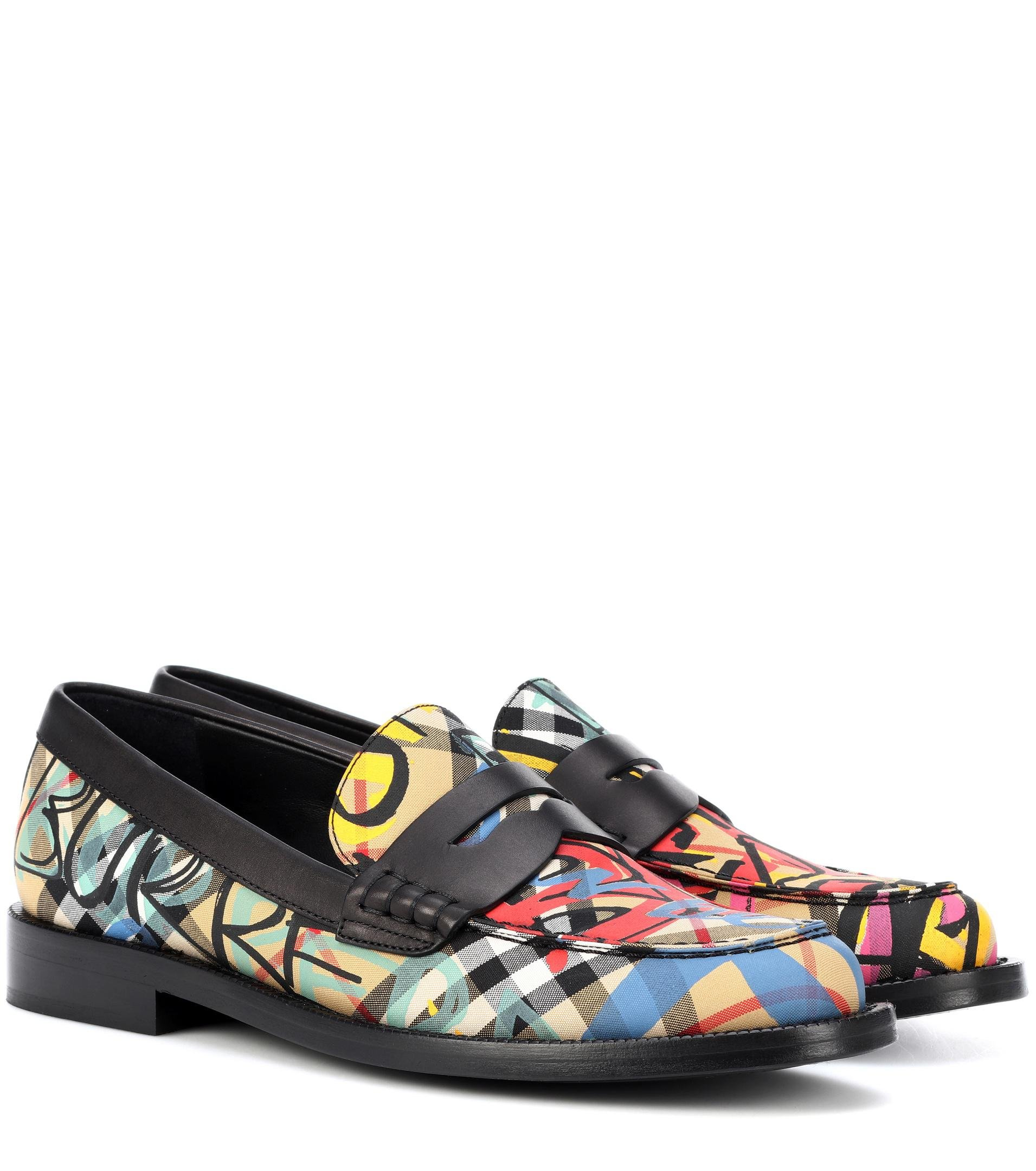 Graffiti check loafers Burberry FiHco