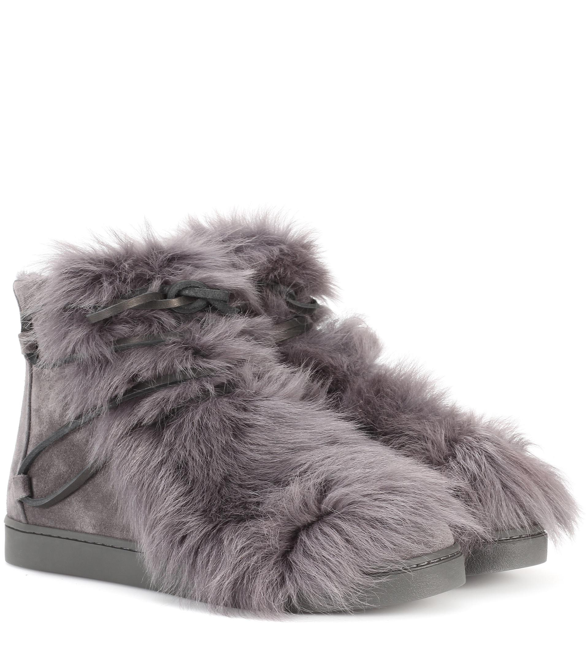 Gianvito Rossi Ankle Boots INUIT suede fur