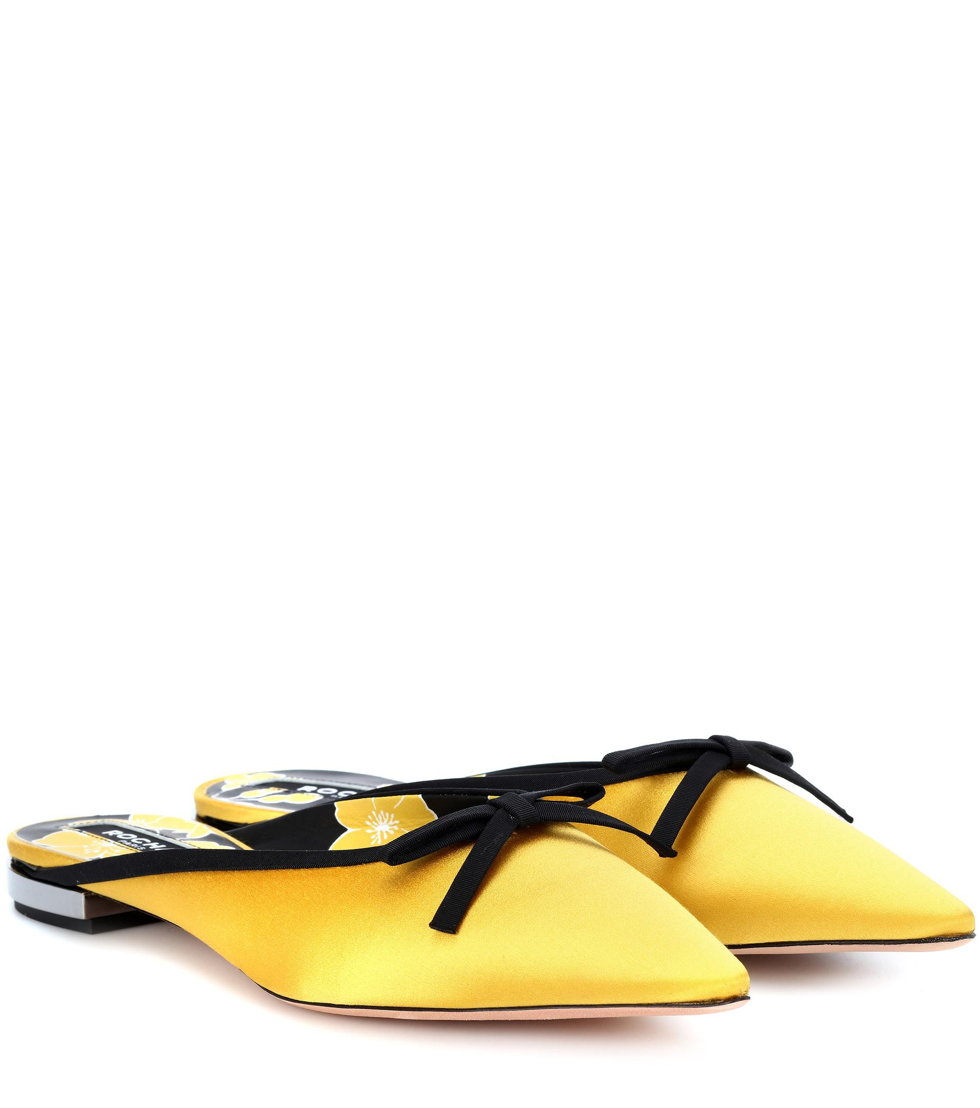 Rochas Satin slippers free shipping for sale K9uKuyD