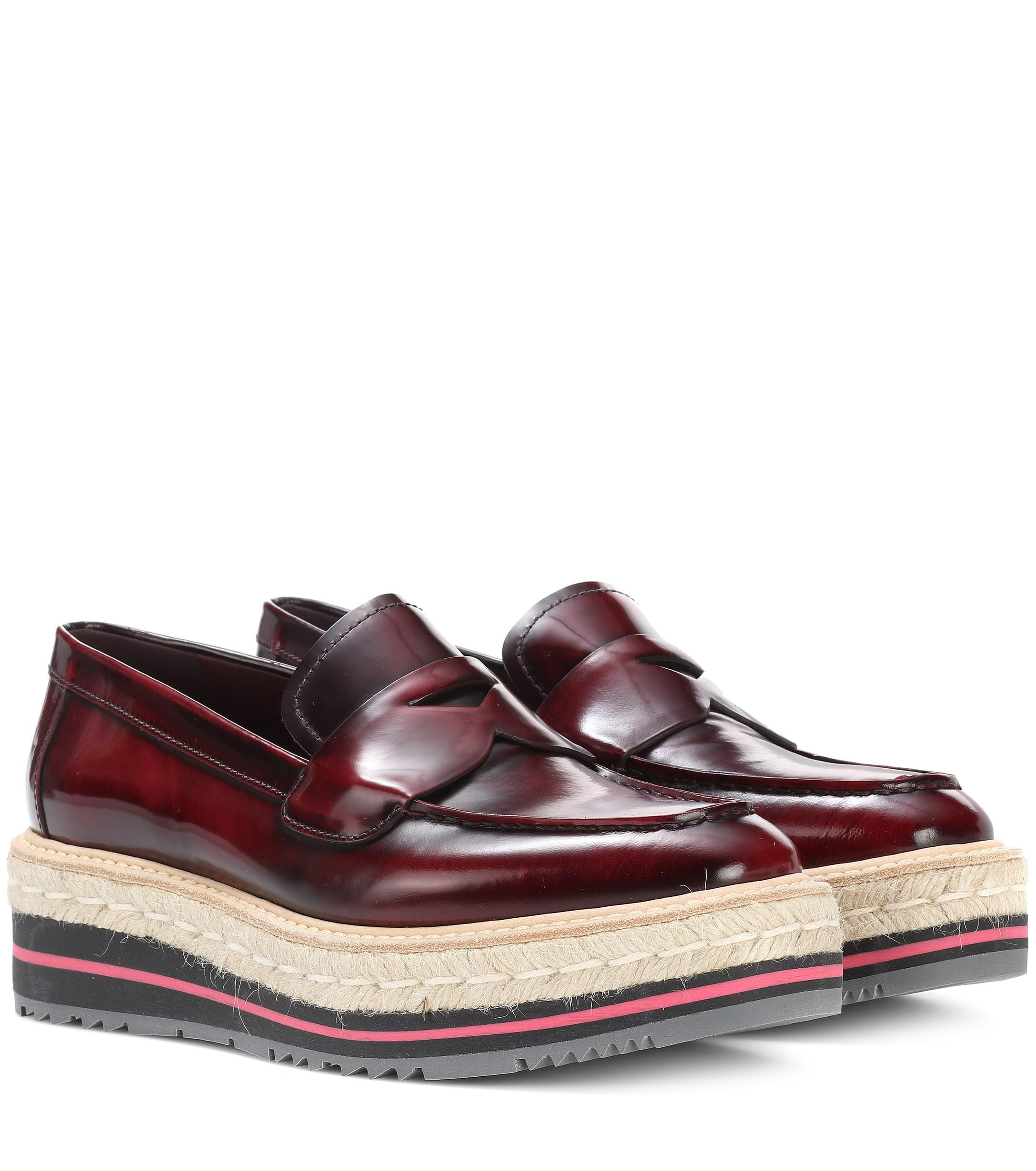 f9f136503 Prada. Women's Leather Platform Loafers