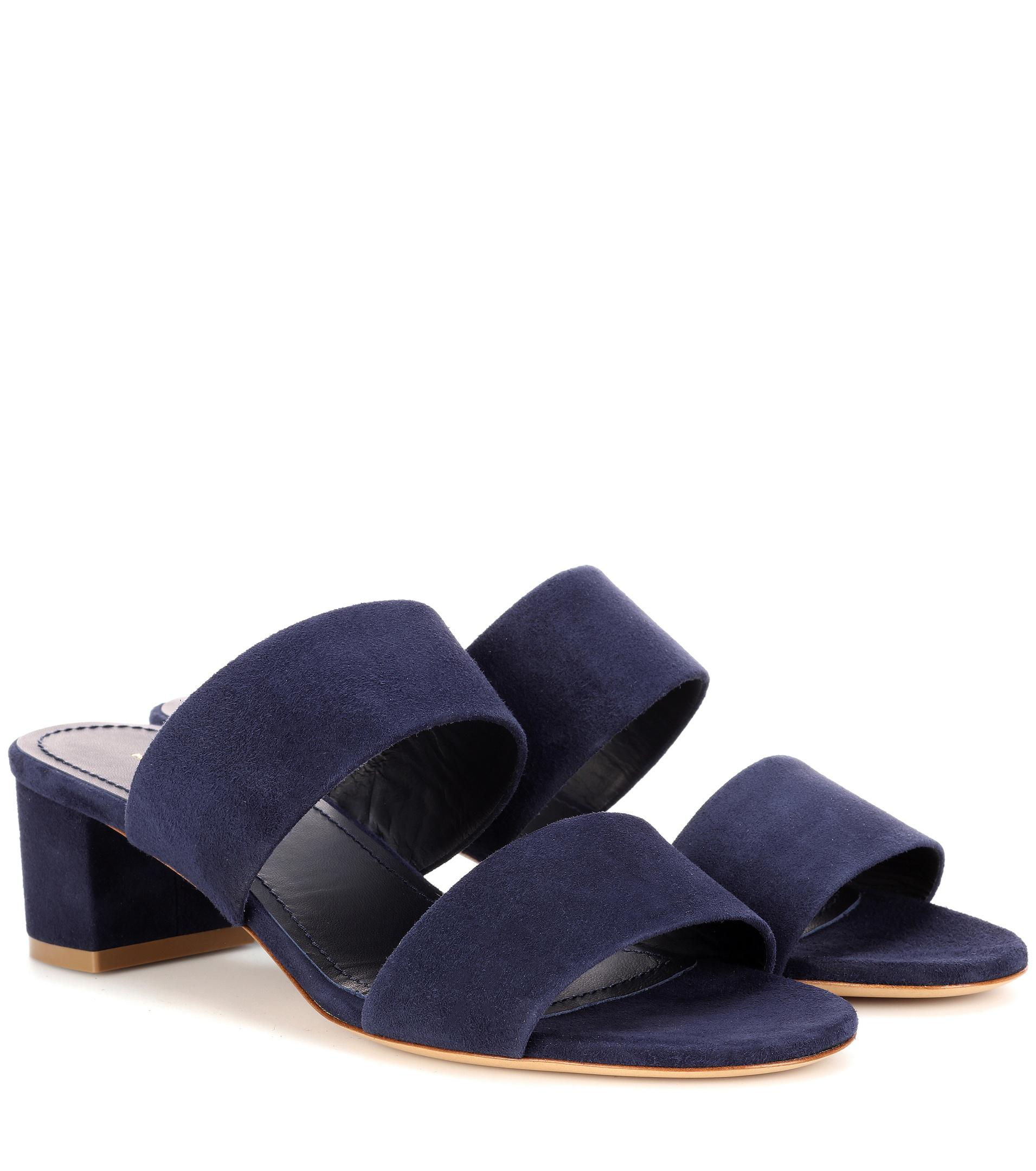 Buy Cheap Low Shipping Mansur Gavriel 40mm Double Strap suede sandals Websites Sale Online Clearance Footlocker Cheap Sale Visit New Buy Cheap Release Dates rT7LwCZ