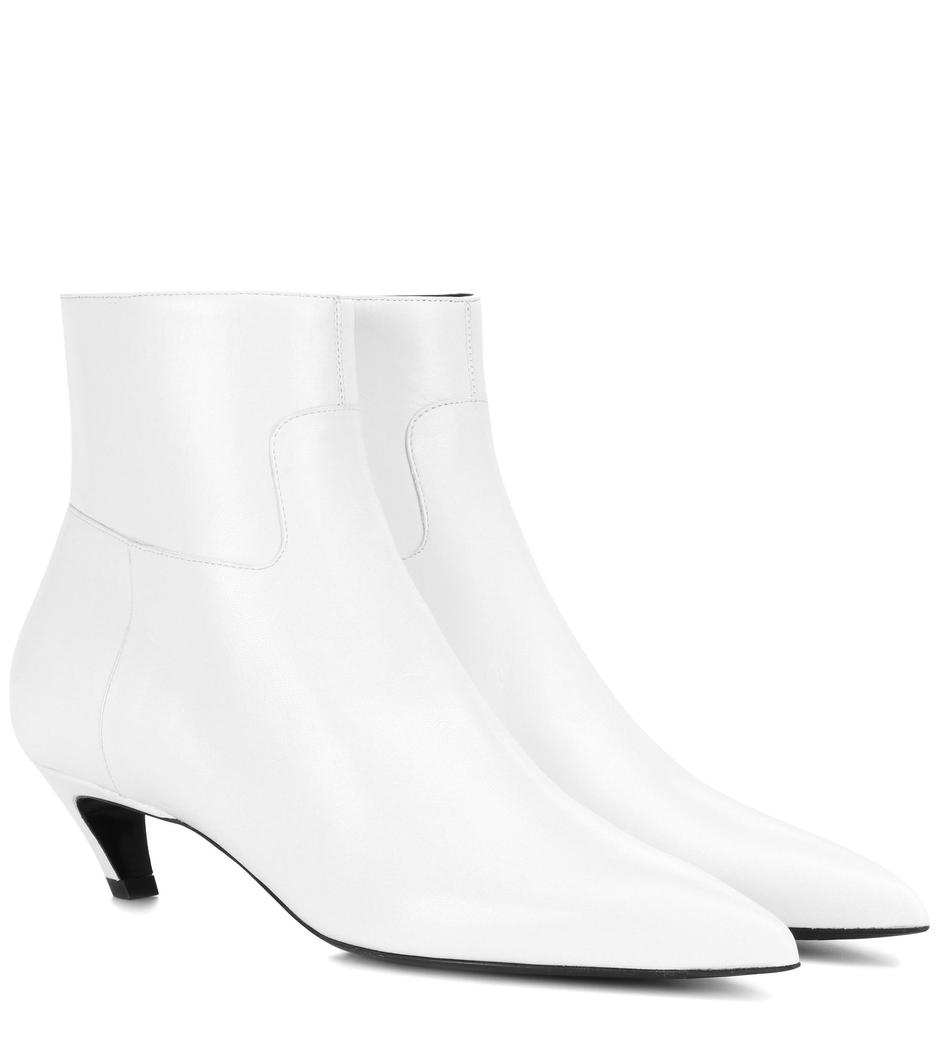 Balenciaga Slash Heel leather ankle boots exclusive cheap online really cheap online eAc1uEq