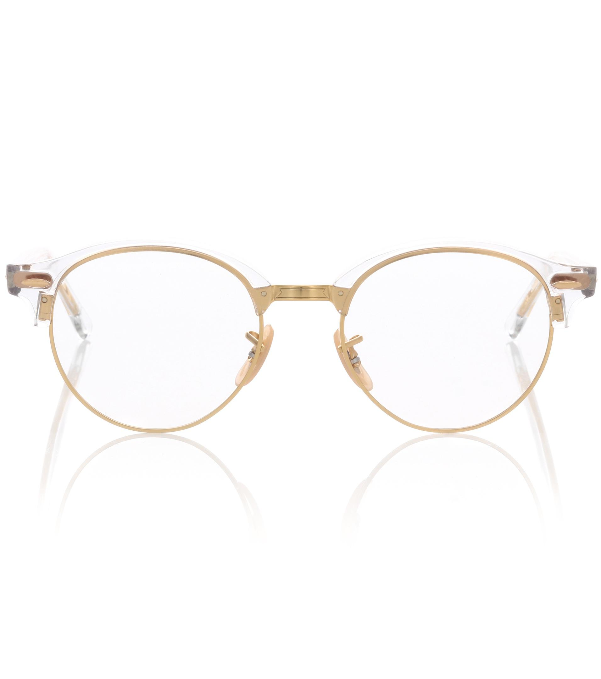 a5e6c35199a Lyst - Ray-Ban Clubround Glasses in Metallic