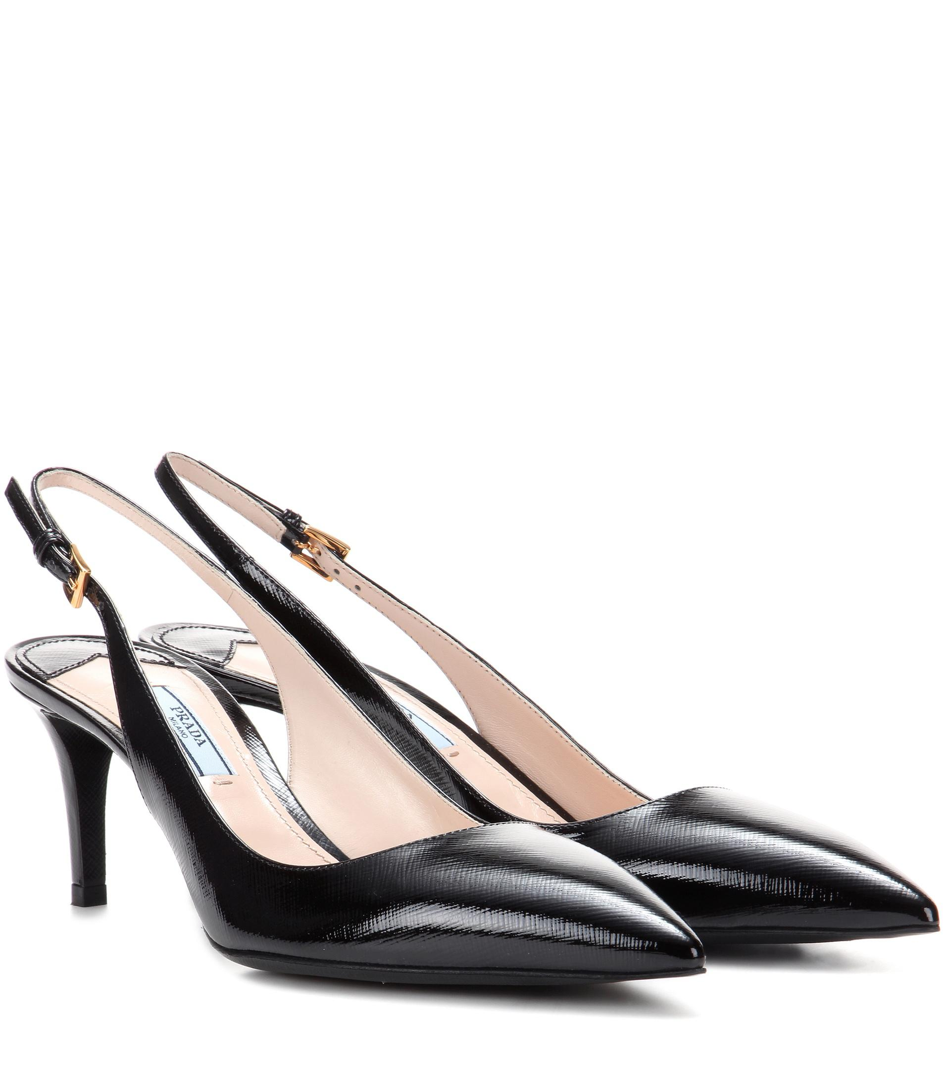 cheap for sale classic sale online Prada Leather slingback pumps low shipping fee sale online LTSUn