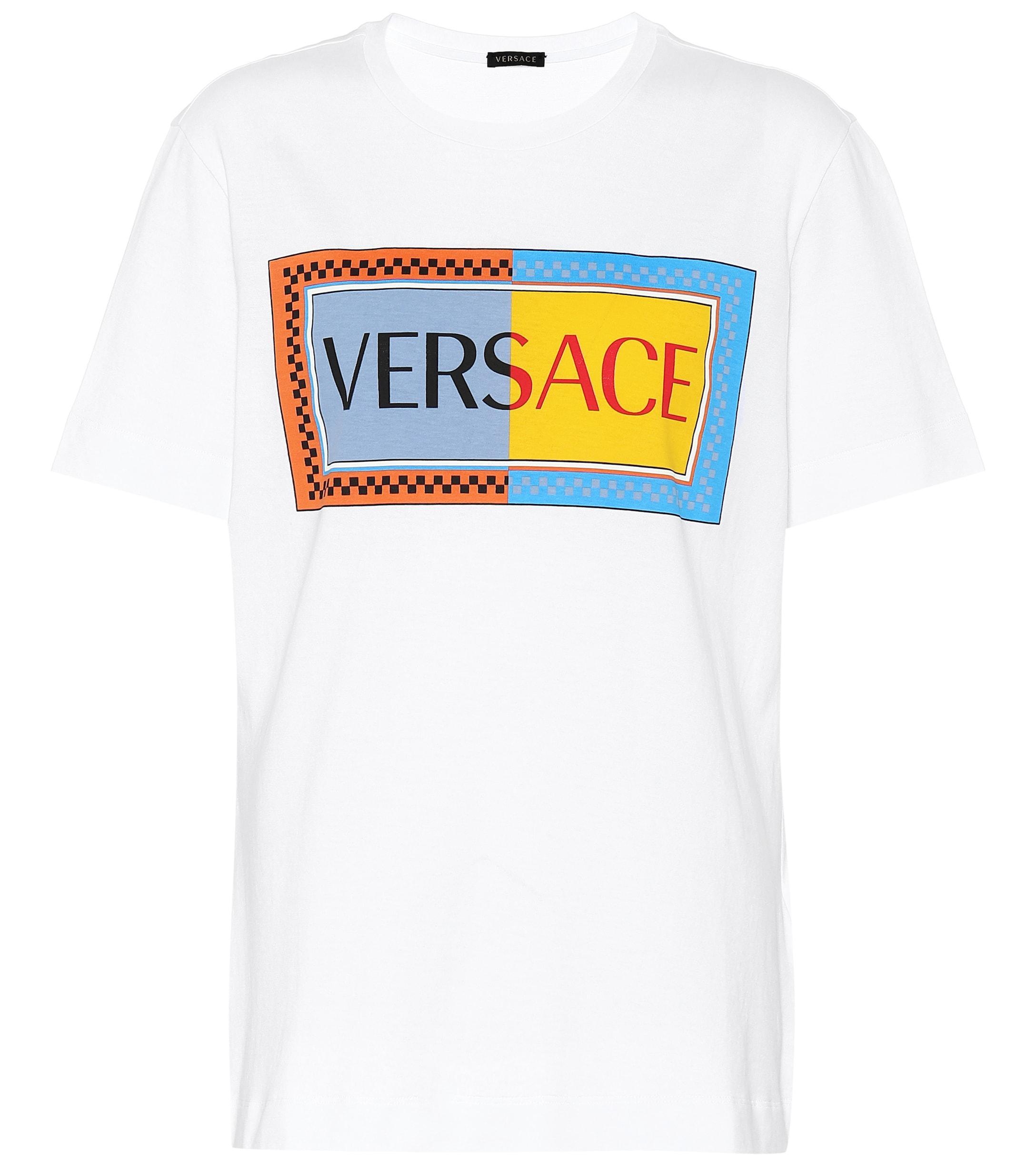 e8bcfd90 Versace - Multicolor Vintage Logo Cotton T-shirt - Lyst. View fullscreen