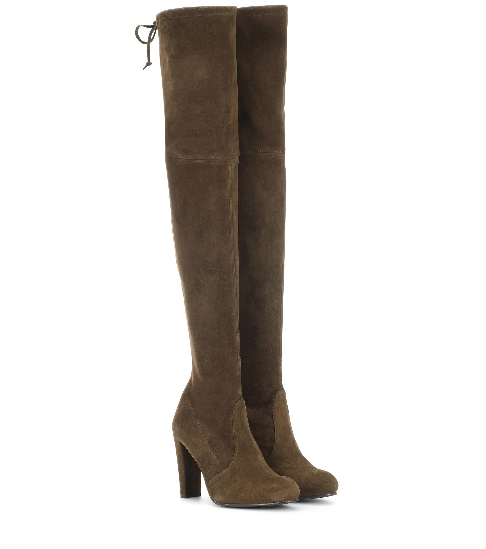 stuart weitzman highland suede the knee boots in