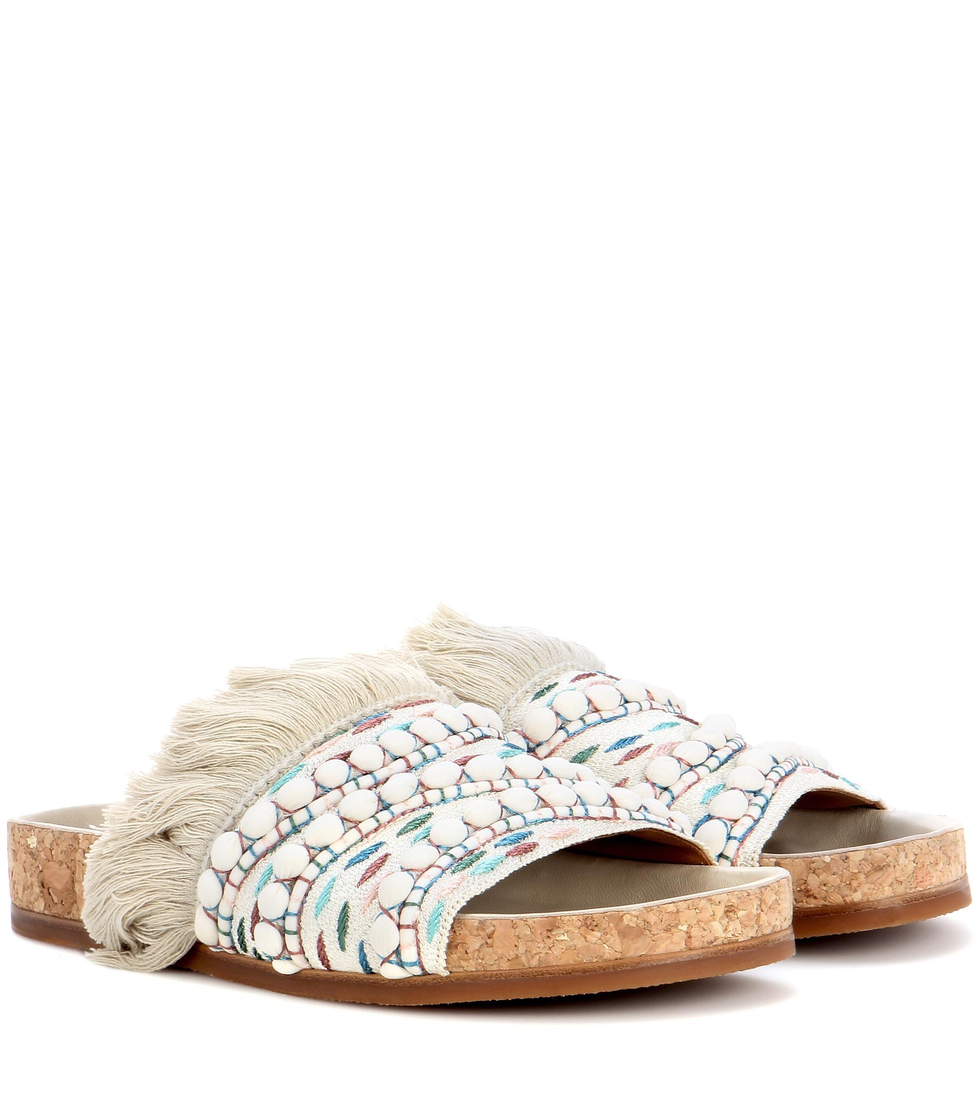 Chloé Embellished slip-on sandals Clearance Clearance Store Inexpensive 100% Guaranteed For Sale Discount Factory Outlet TQjUdpUO