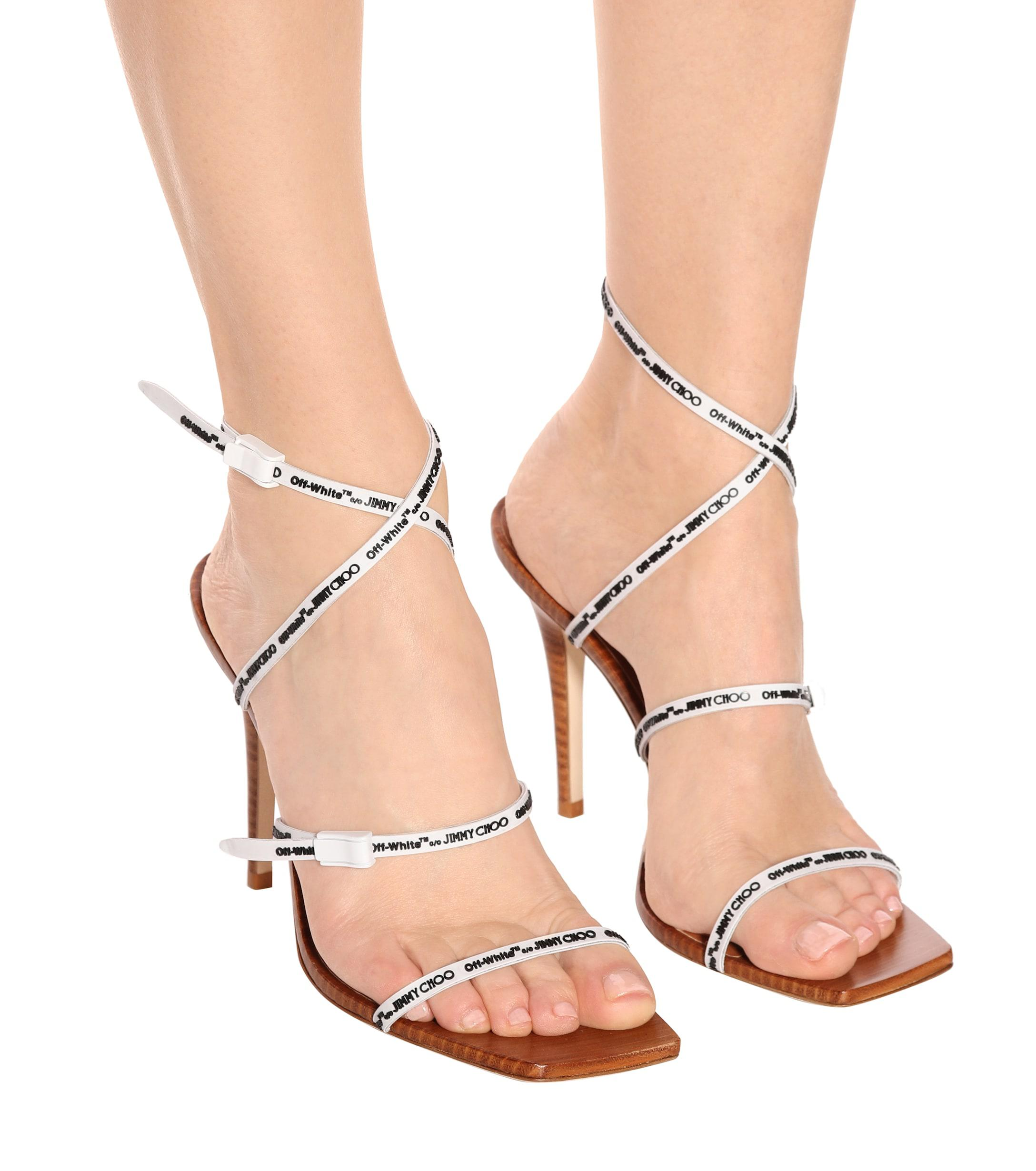 61fd481fc66 Lyst - Jimmy Choo X Off-white Jane 100 Sandals in White