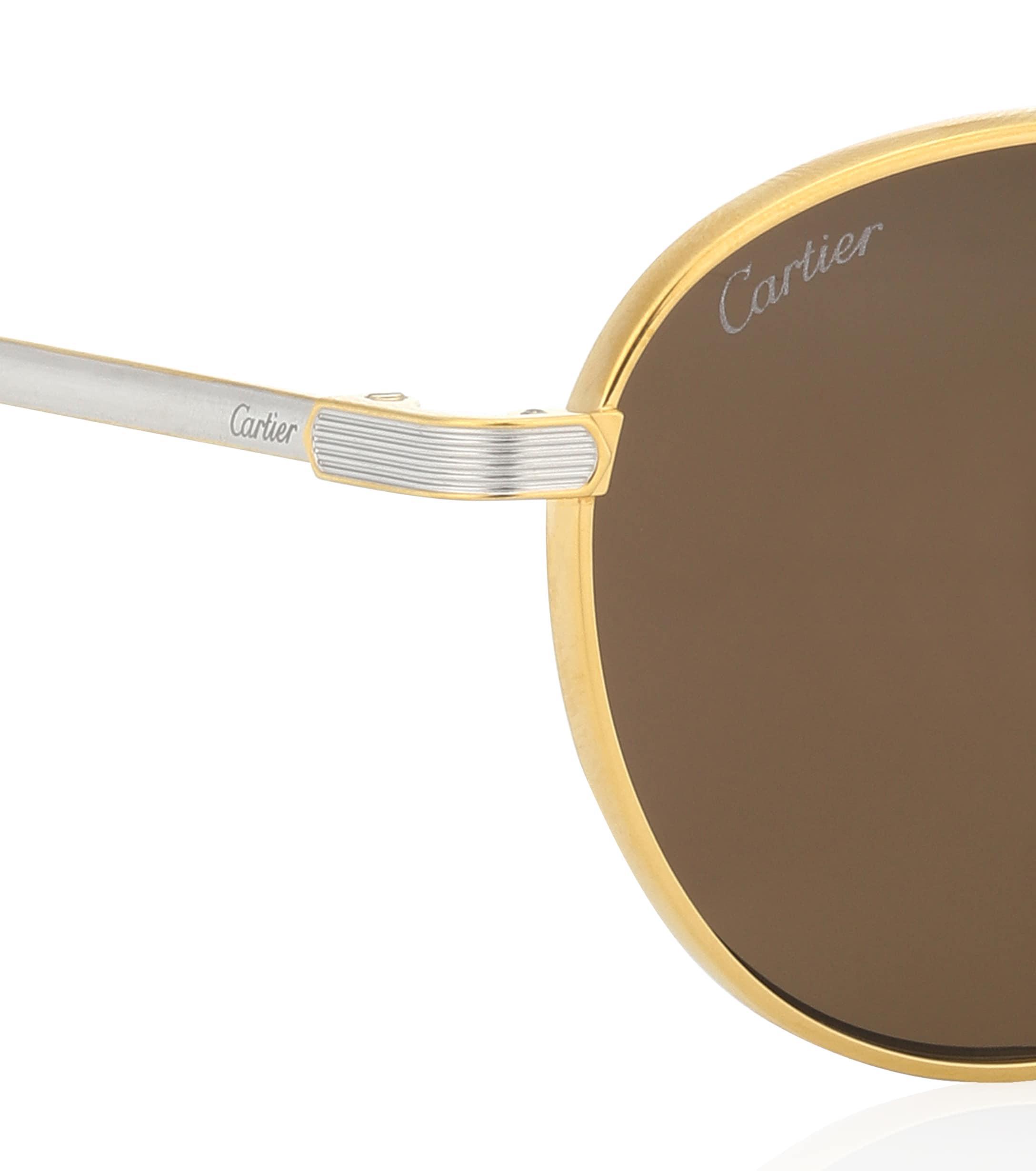 226d01d14a2 Cartier - Metallic C De Cartier Round Sunglasses - Lyst. View fullscreen