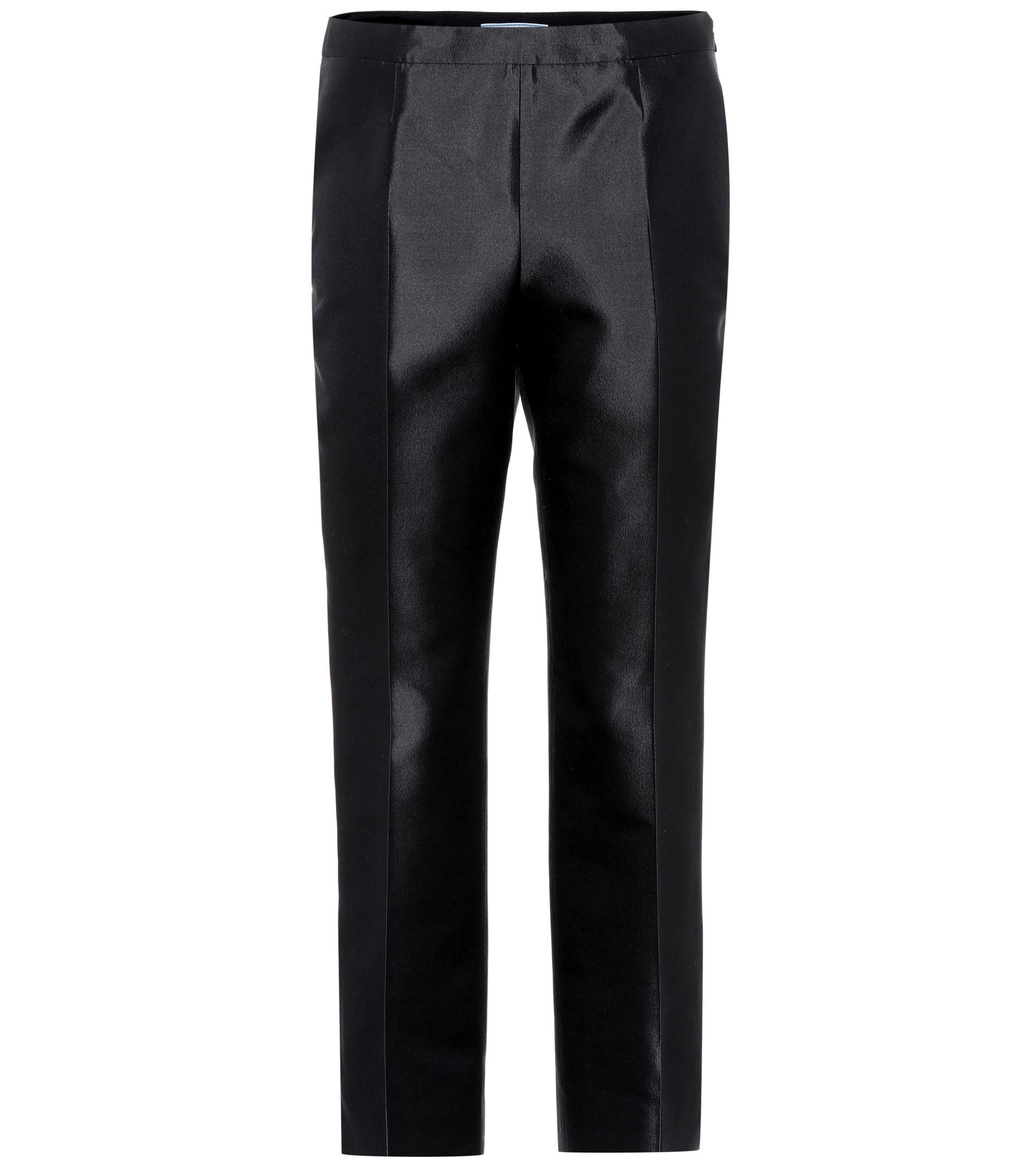 Wool and silk trousers Prada 0M4fqPd
